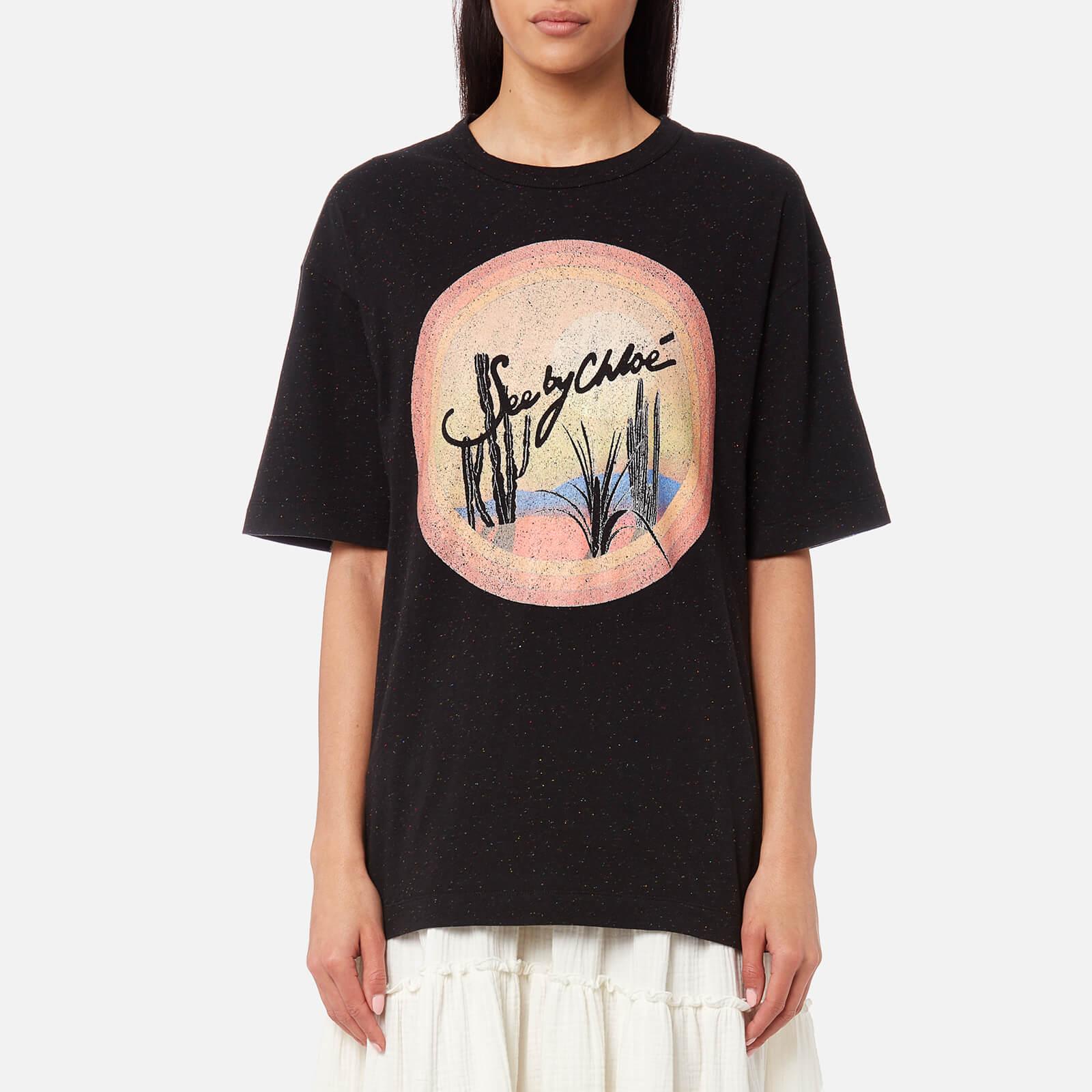 9949448422 See By Chloé Women's Sunrise T-Shirt - Black