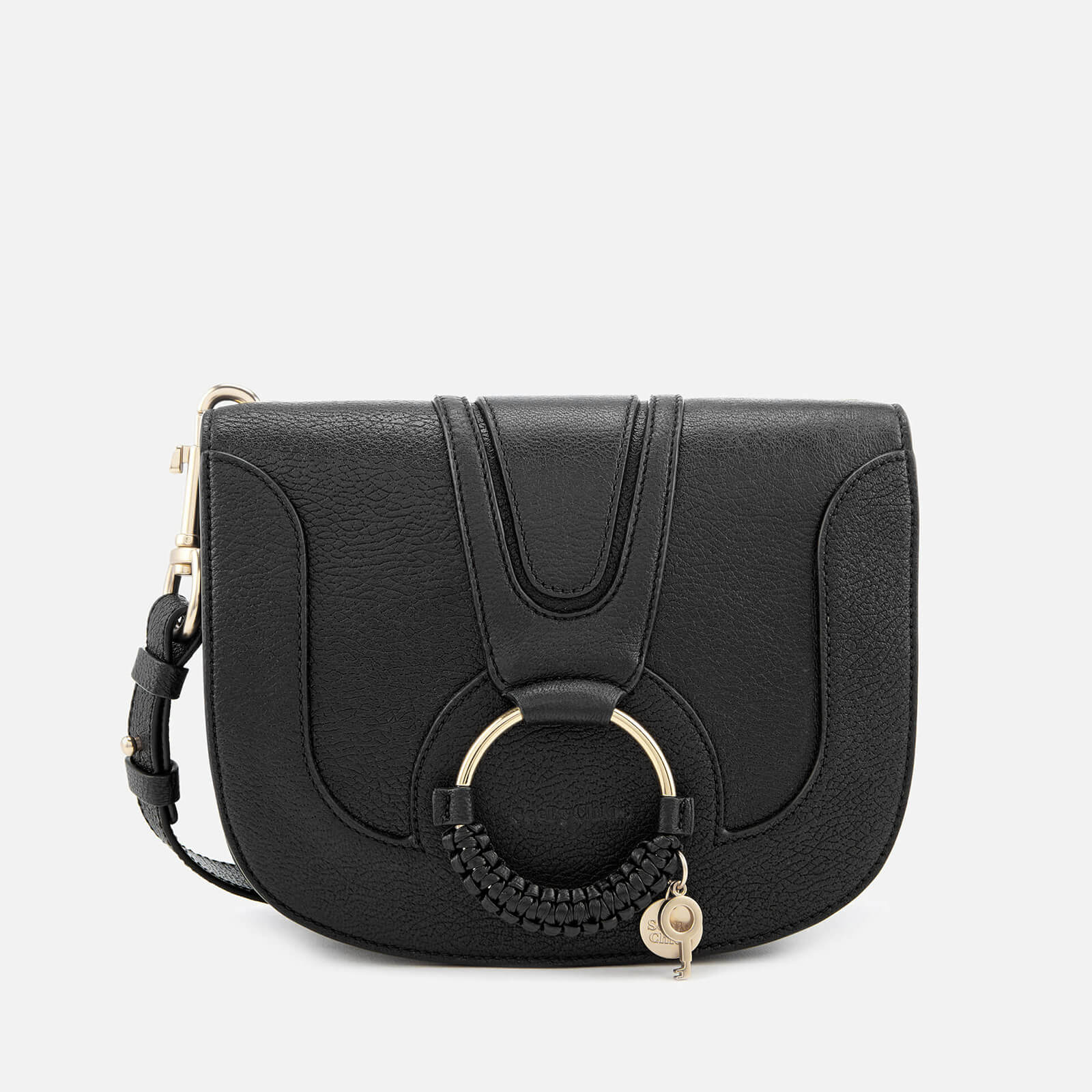 classic style low price outlet store sale See By Chloé Women's Hana Leather Cross Body Bag - Black
