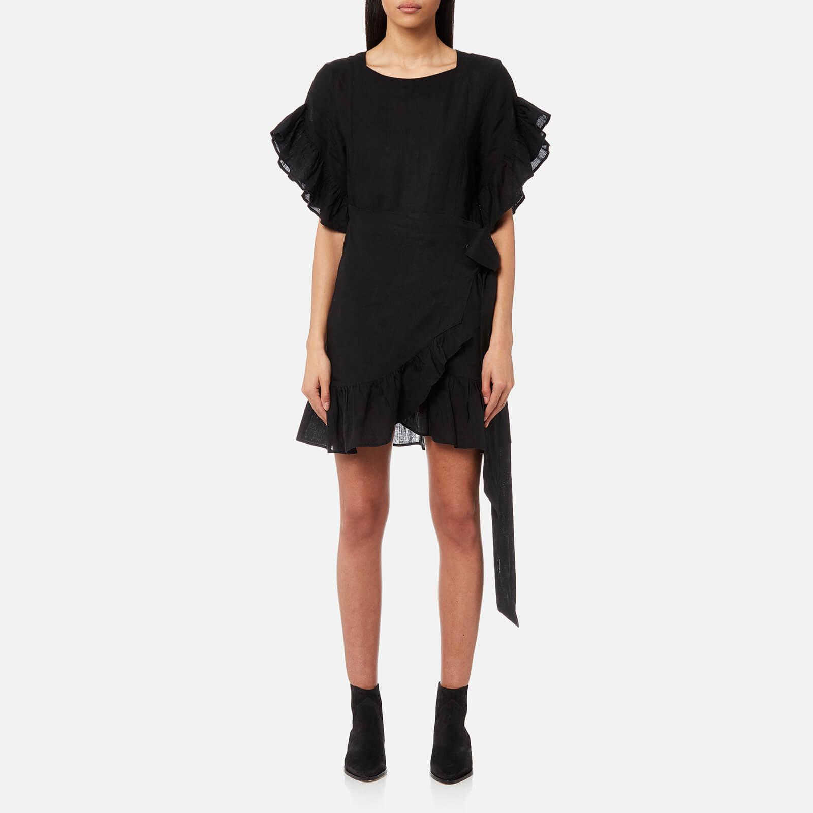 fb2c7b52e6b Isabel Marant Etoile Women s Delicia Chic Linen Dress - Black - Free UK  Delivery over £50