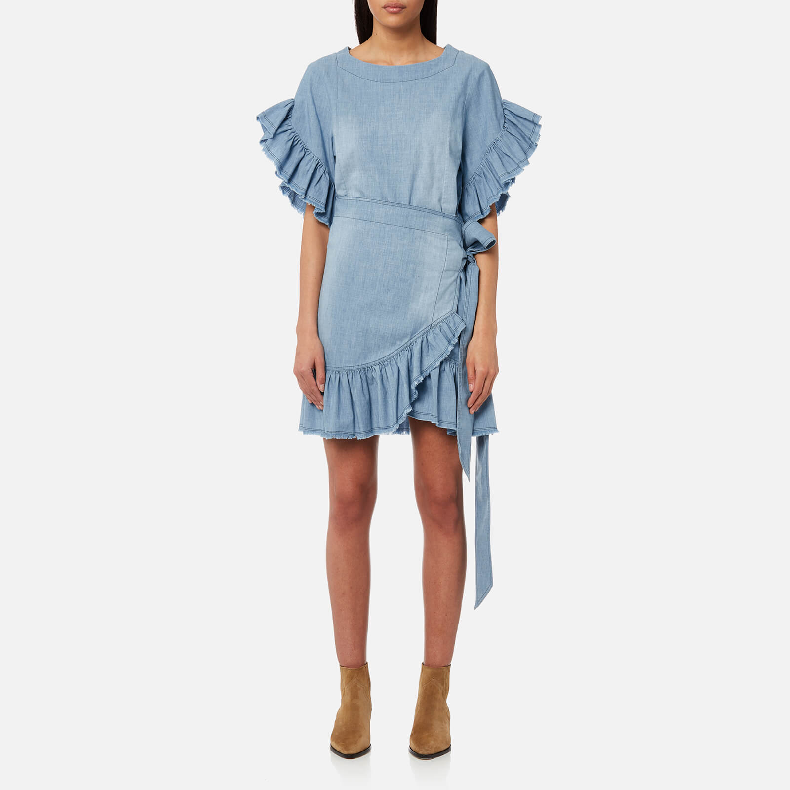 0ffa930e2f6 Isabel Marant Etoile Women s Lelicia Dress - Blue - Free UK Delivery over  £50