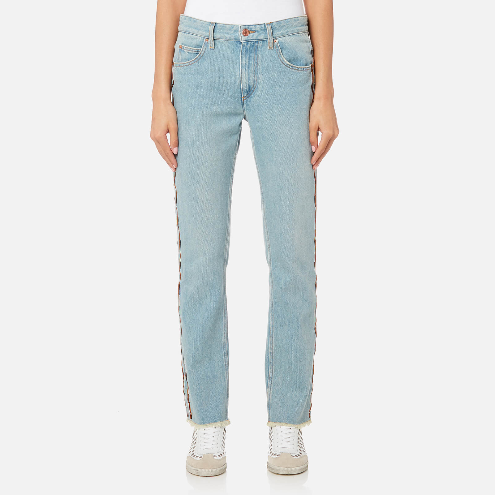 29754a8eae Isabel Marant Etoile Women's Colan Fancy Pants - Blue - Free UK Delivery  over £50