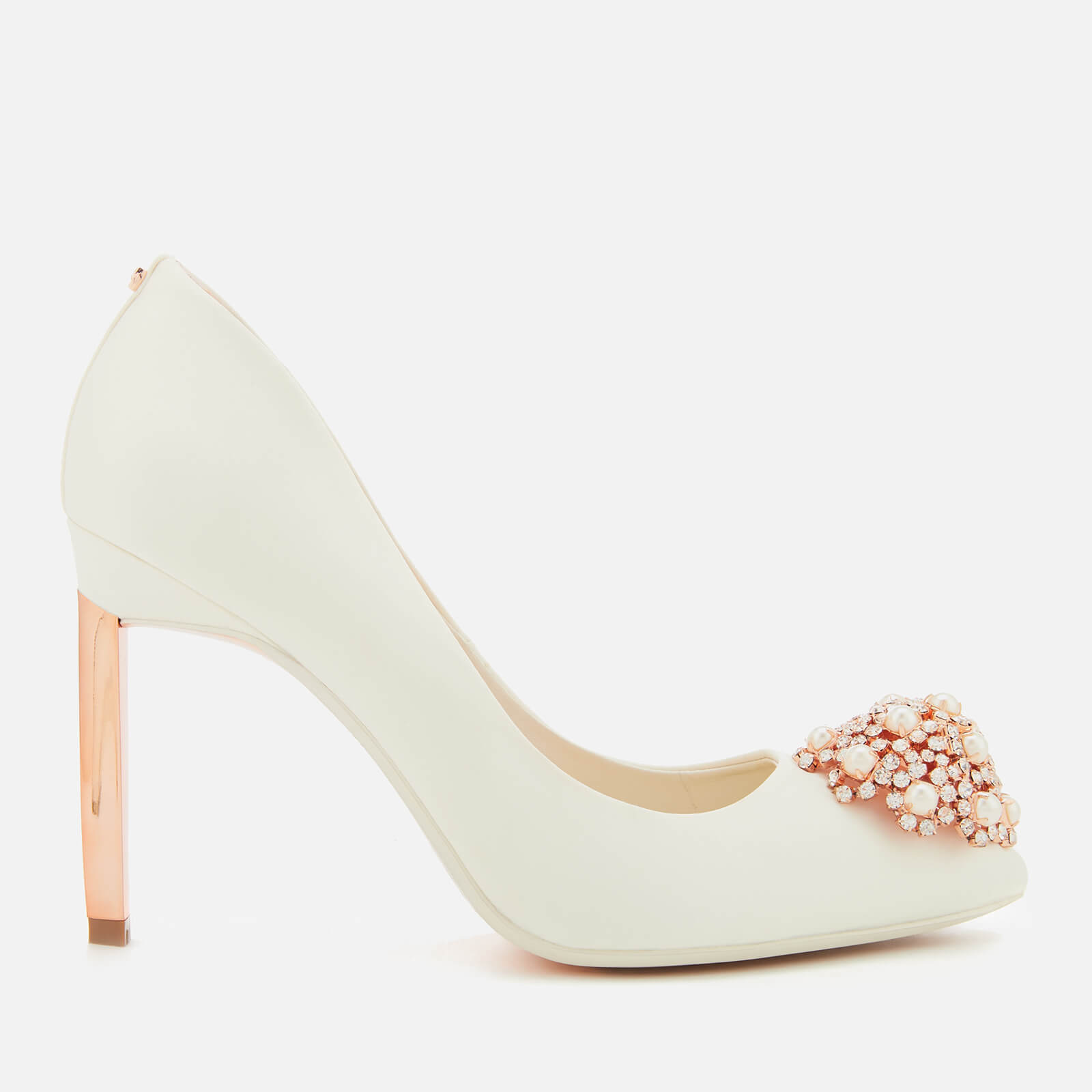 18617814e Ted Baker Women s Peetch 2 Satin Court Shoes - Ivory Clothing ...