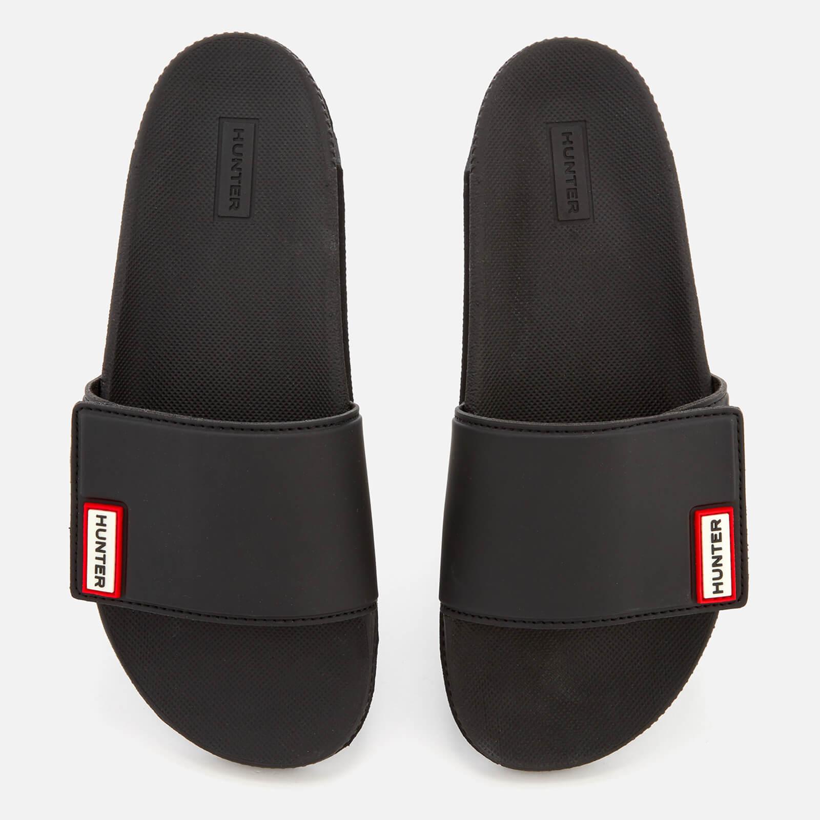 4500cdfbc0b Hunter Women s Original Adjustable Slide Sandals - Black Womens Footwear
