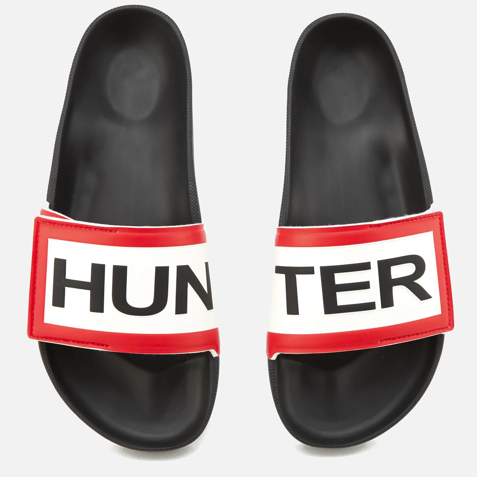 a38513a69 Hunter Men's Original Adjustable Logo Slide Sandals - Black Mens Footwear |  TheHut.com