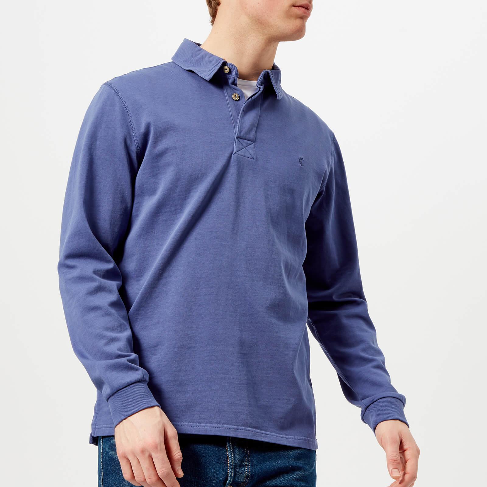 04014657150 Joules Men's Parkside Rugby Shirt - Skipper Blue Mens Clothing ...
