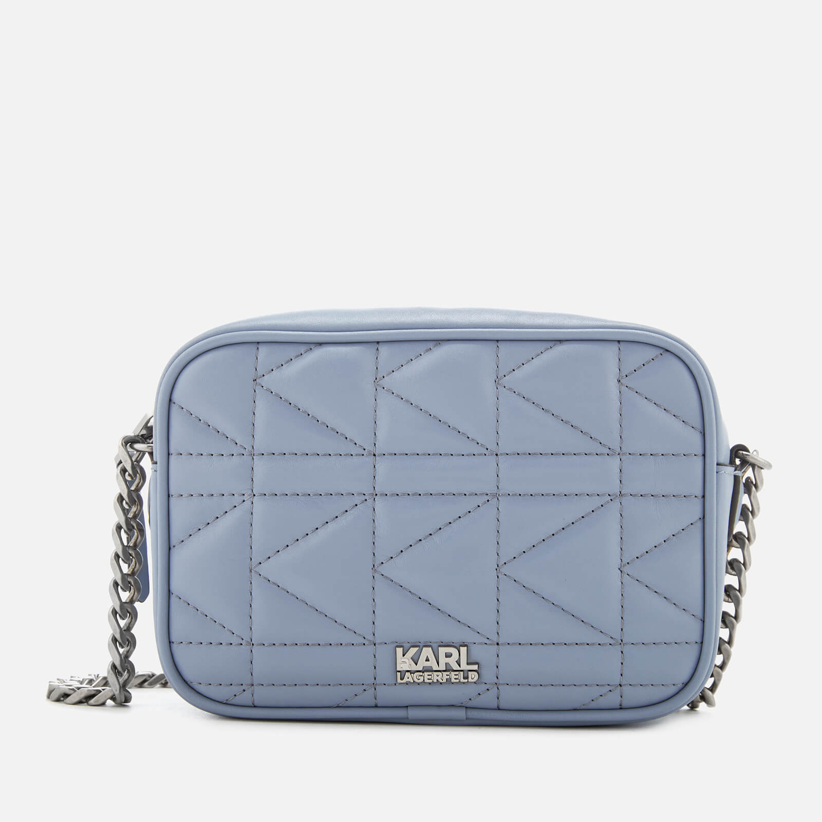 63777e6531f6 Karl Lagerfeld Women s K Kuilted Cross Body Bag - Mistic Blue - Free UK  Delivery over £50