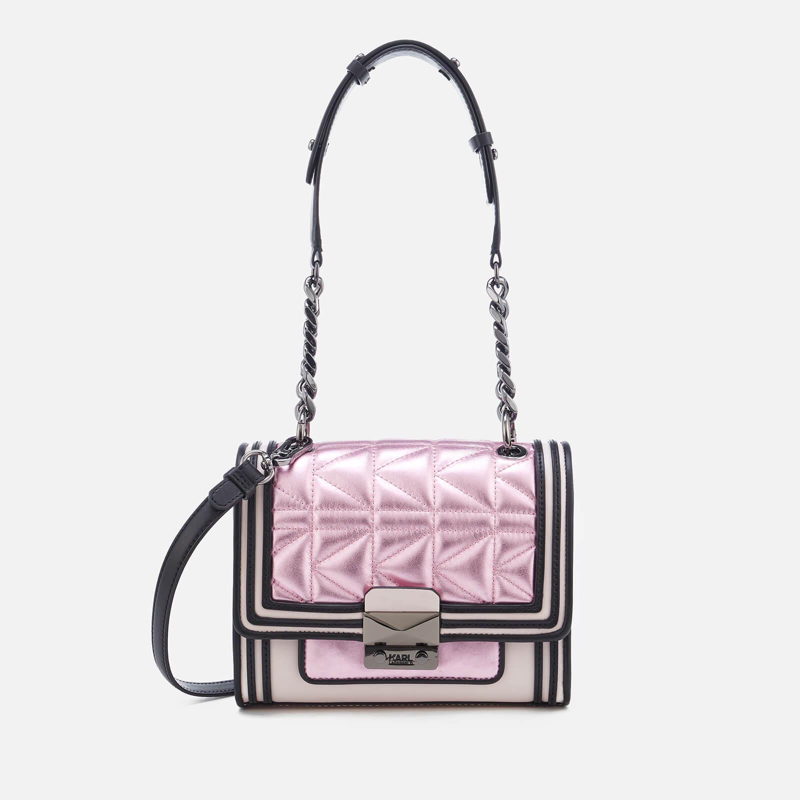 c51171edde1f Karl Lagerfeld Women s K Kuilted Pink Mini Handbag - Metallic Pink - Free  UK Delivery over £50