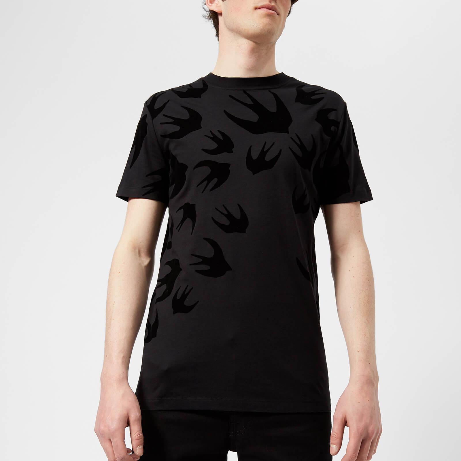 8a36d07ec8d McQ Alexander McQueen Men s All Over Swallow T-Shirt - Darkest Black ...