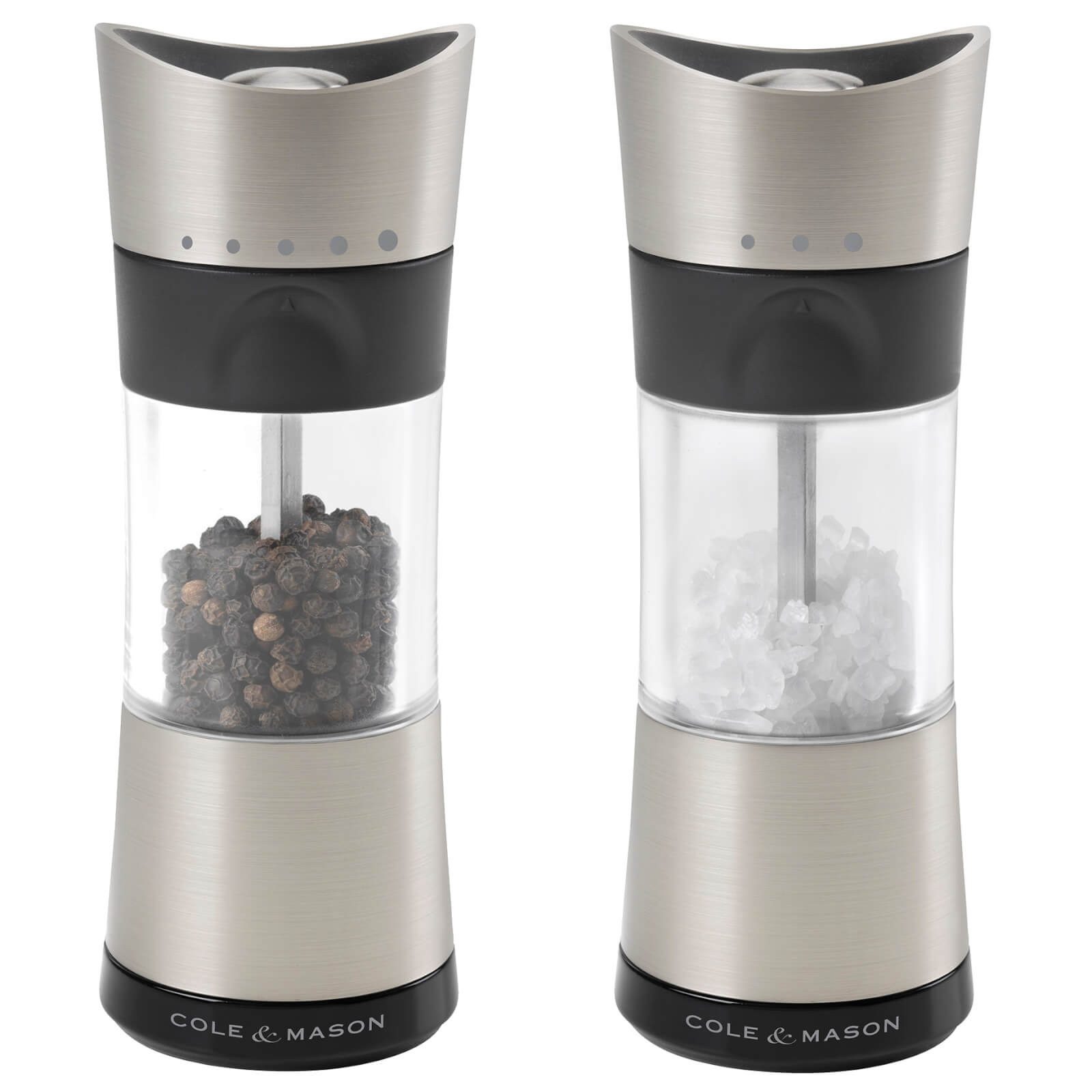 Cole and Mason Horsham Salt and Pepper Mill Set - Chrome