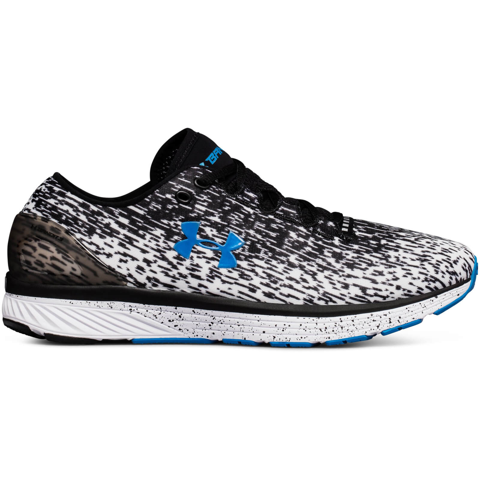 big sale 61a77 cb9bf Under Armour Men's Charged Bandit 3 Ombre Running Shoes - Black/White