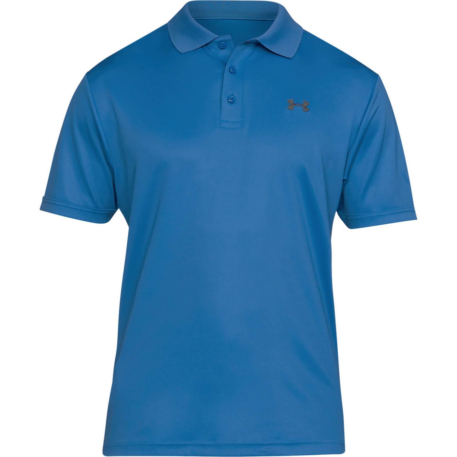 Under armour men 39 s performance polo shirt blue for Under armour men s shirts clearance