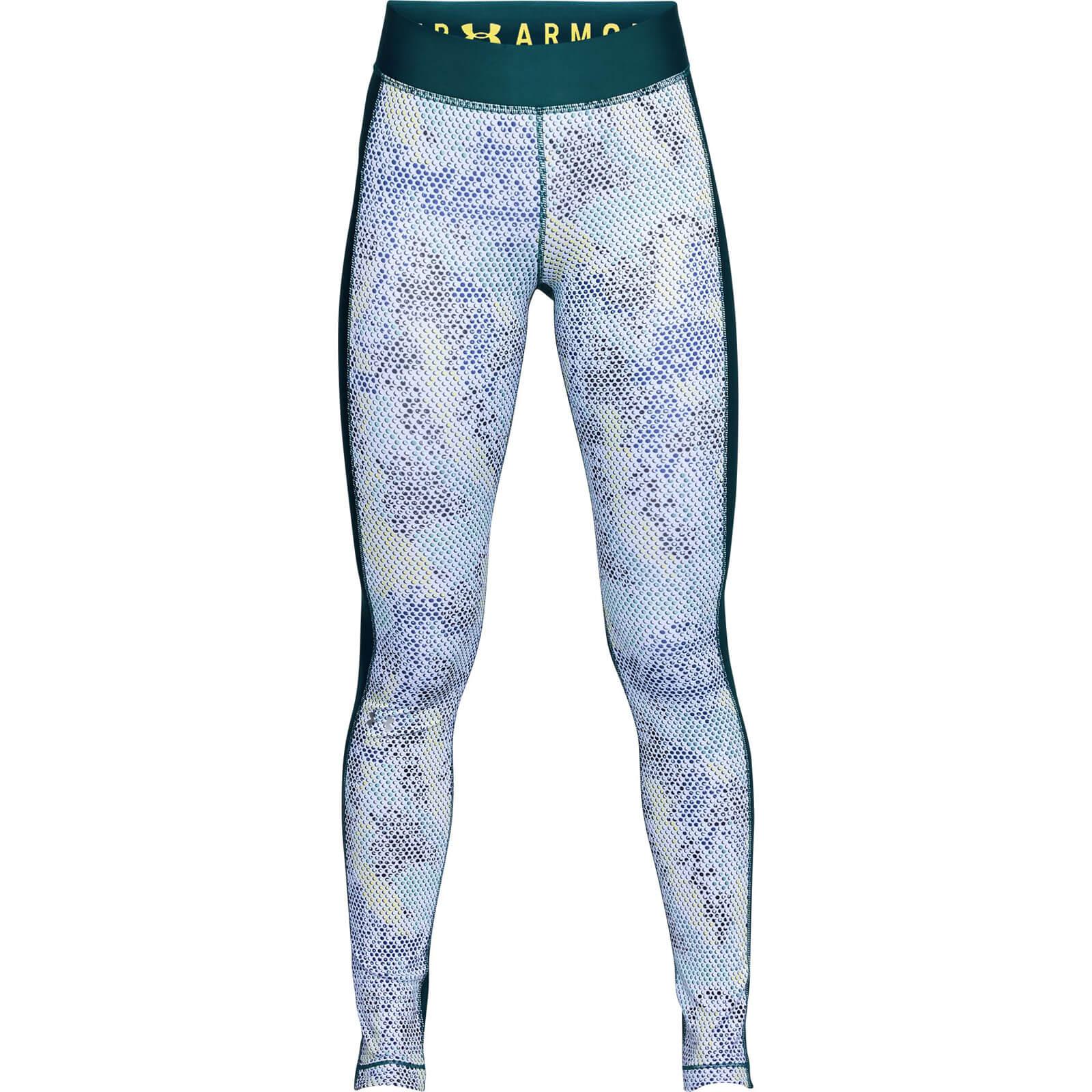e727756fc05f2 Under Armour Women s HeatGear Armour Printed Leggings - Green Sports    Leisure