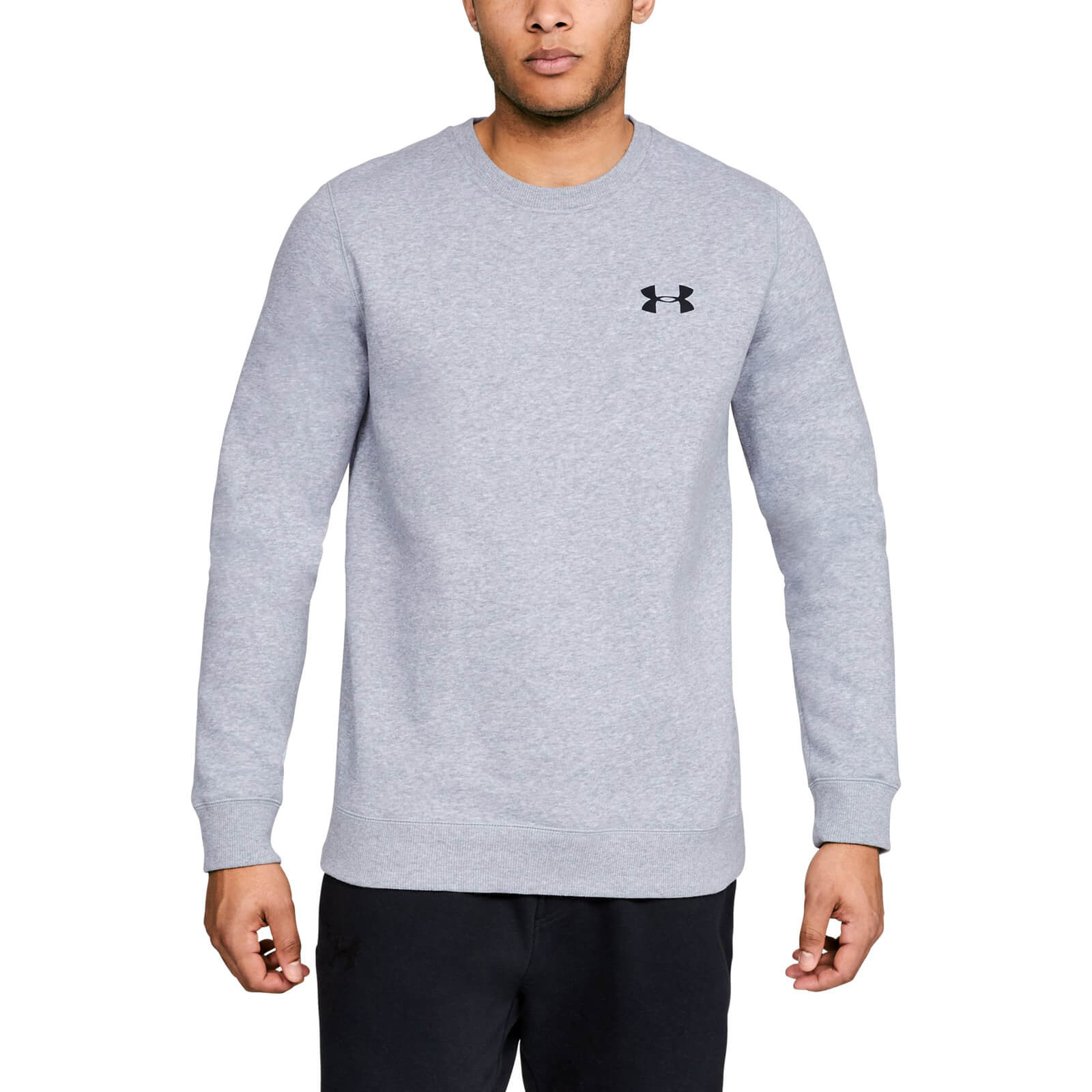 e670c301ca Under Armour Men's Rival Solid Fitted Crew Sweatshirt - Grey