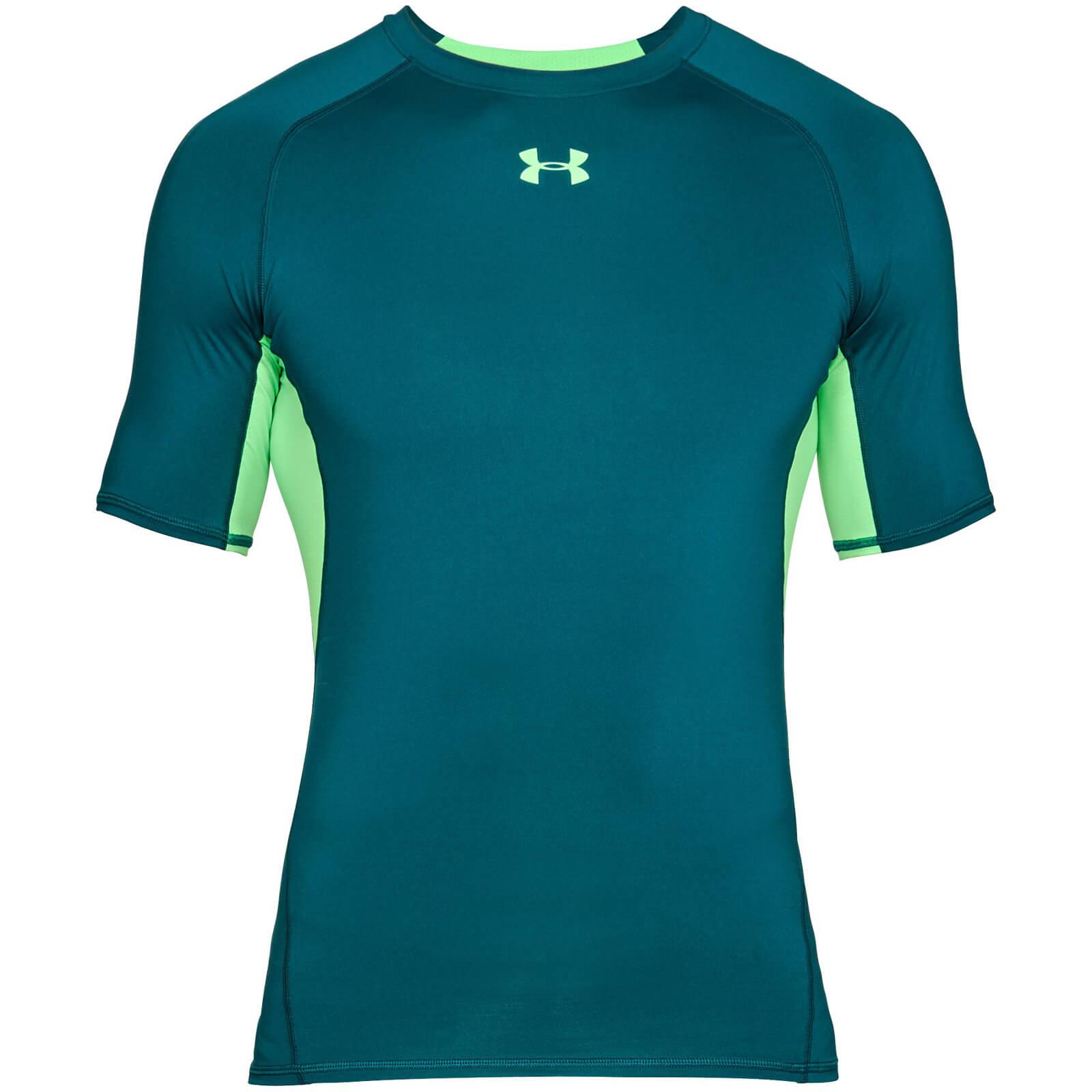 3b4159171 Under Armour Men's HG Armour T-Shirt - Green | ProBikeKit UK