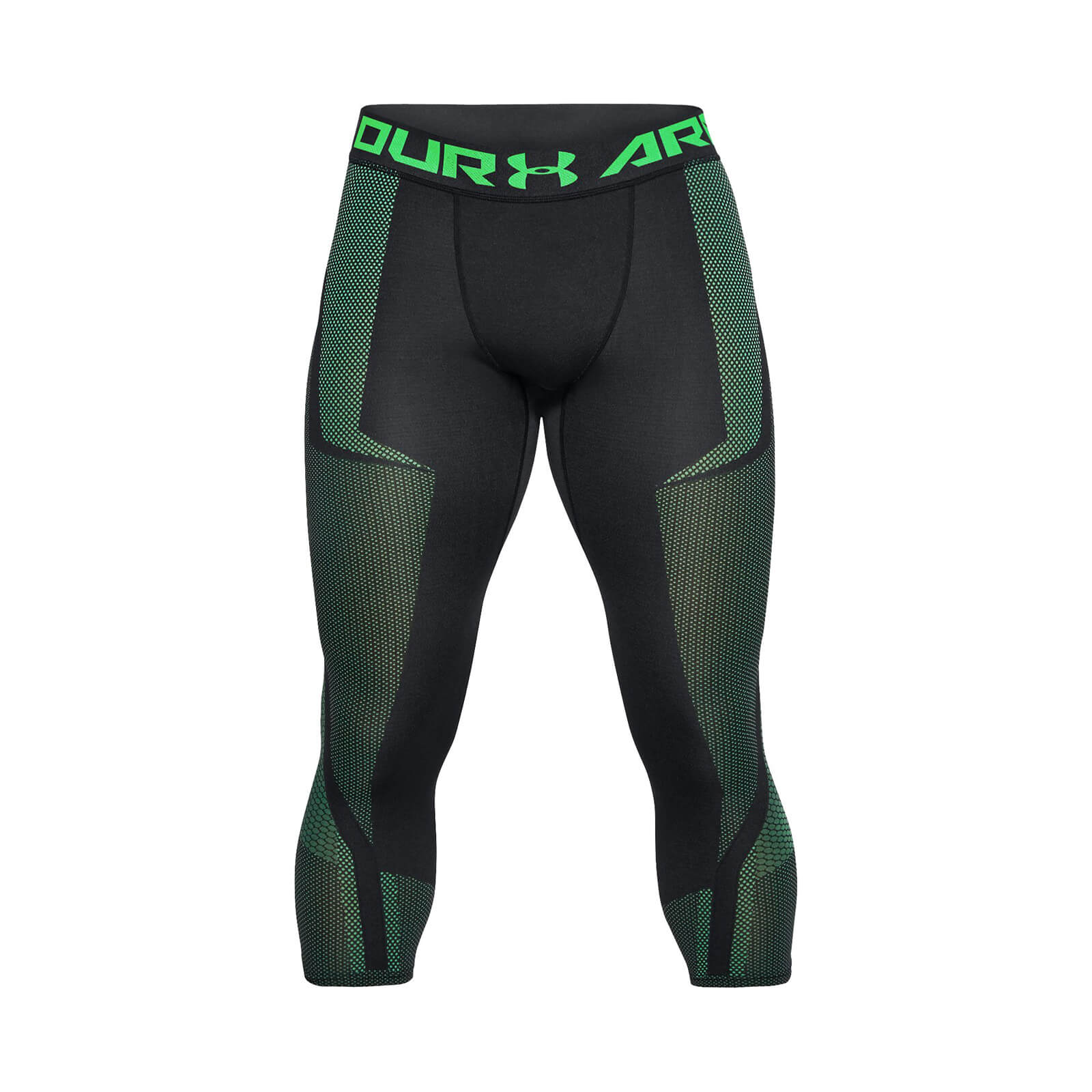 bf9e4b2260 Under Armour Men's Threadborne Seamless 3/4 Leggings - Black/Green |  ProBikeKit.com