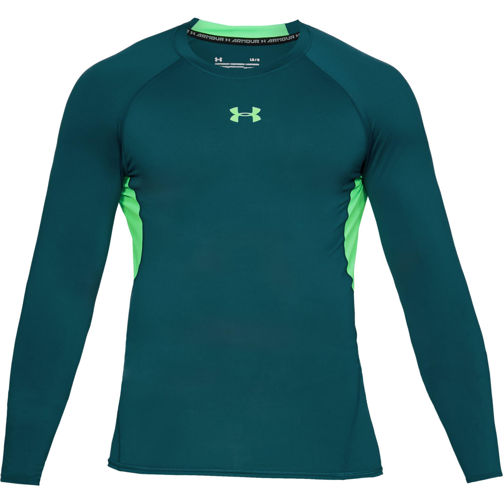 8840662eb Under Armour Men's HG Armour Long Sleeved Top - Green | ProBikeKit.com