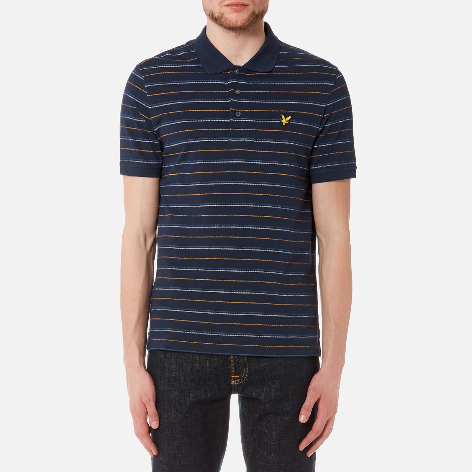 28e33c48956a4 Lyle & Scott Men's Pick Stitch Polo Shirt - Navy Clothing | TheHut.com
