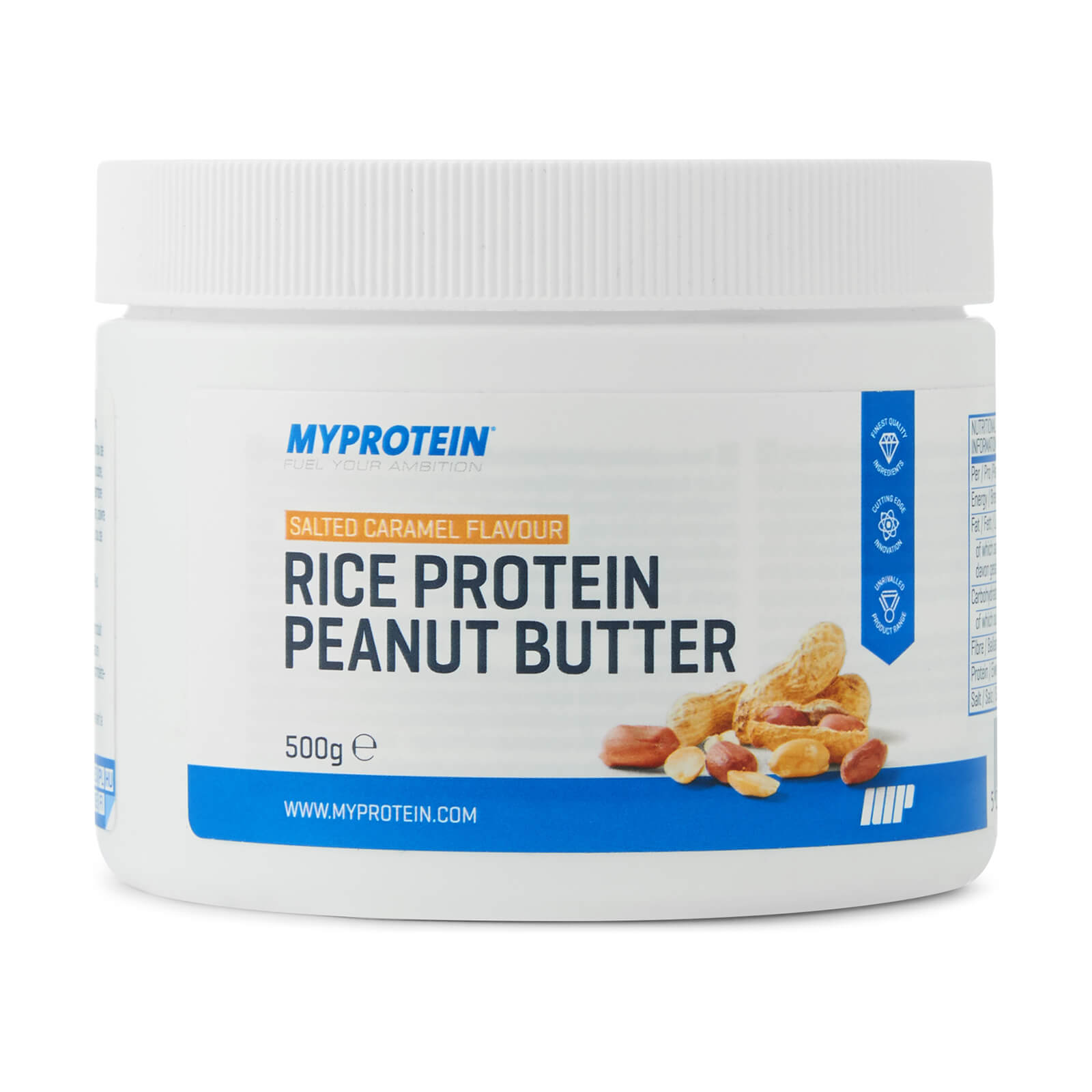 Rice Protein Peanut Butter, Salted Caramel, 500g