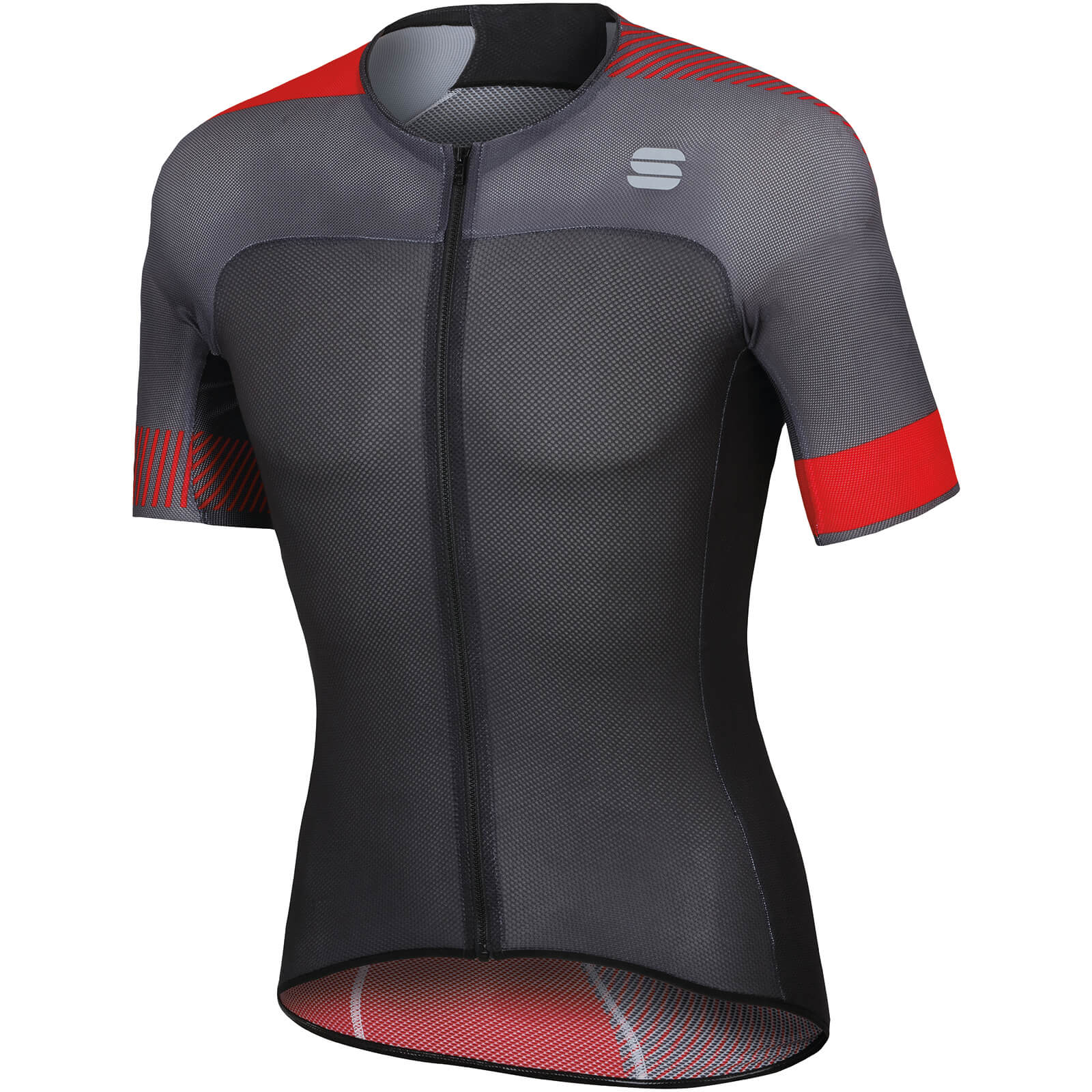 Sportful BodyFit Pro Light Jersey - Anthracite/Black/Red