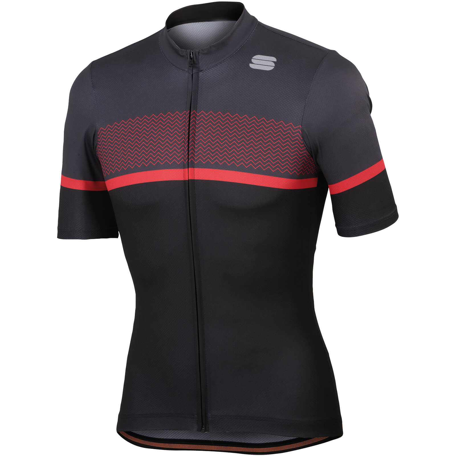 Sportful Frequence Jersey - Black/Anthracite/Red