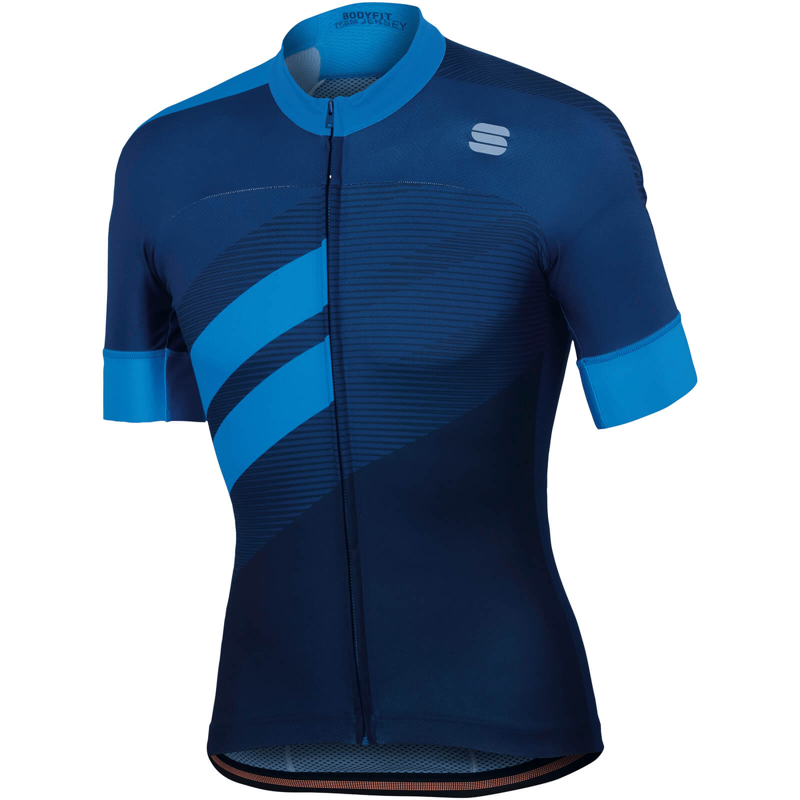 Sportful BodyFit Team Jersey - Twilight Blue/Electric Blue