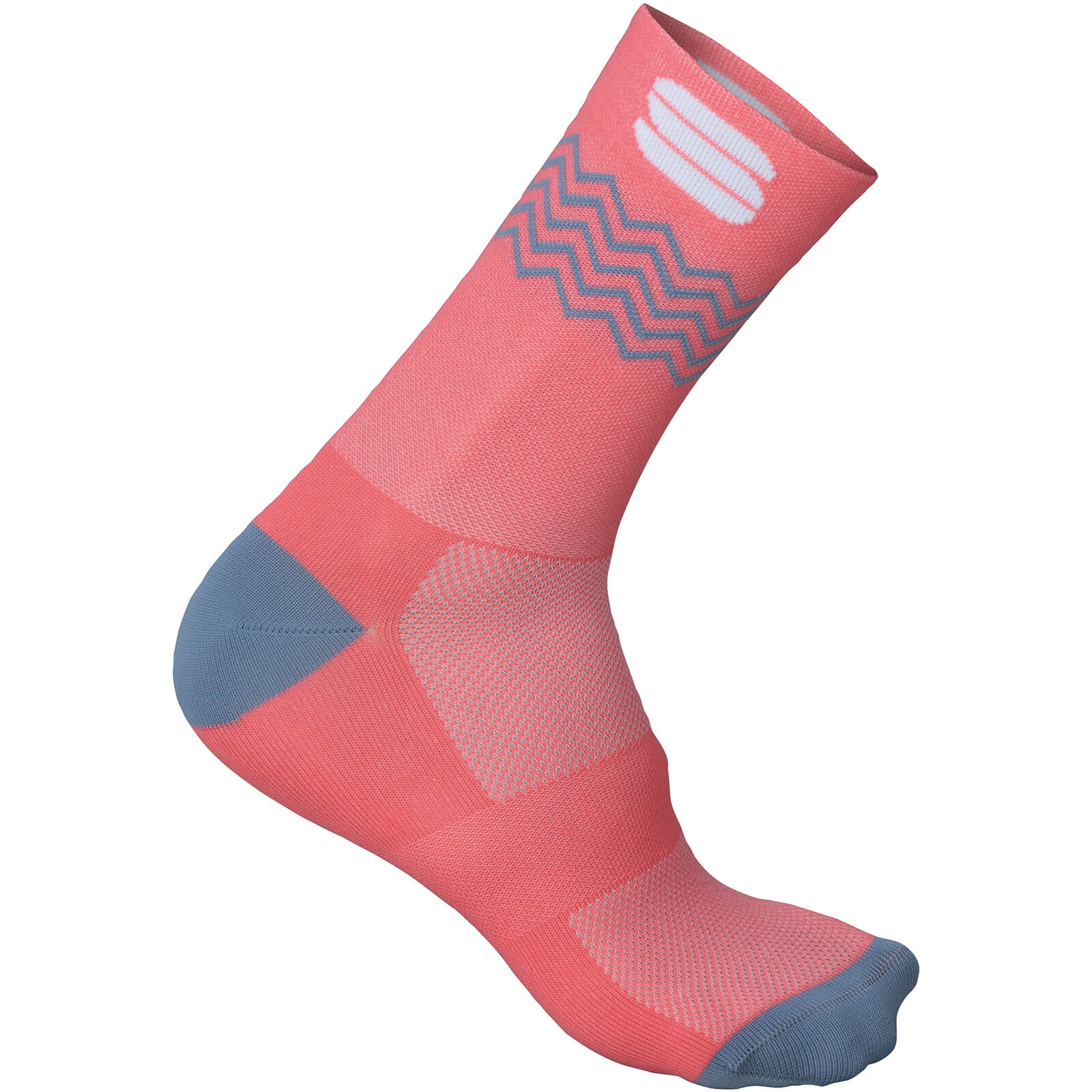 Sportful Flair 15 Socks - Coral Fluo/Tradewinds