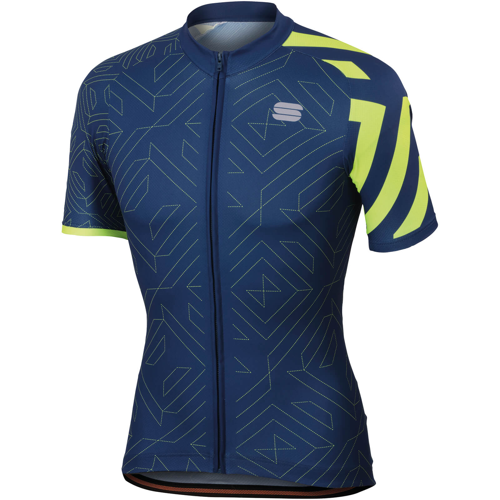 Sportful Prism Jersey - Twilight Blue/Yellow Fluo