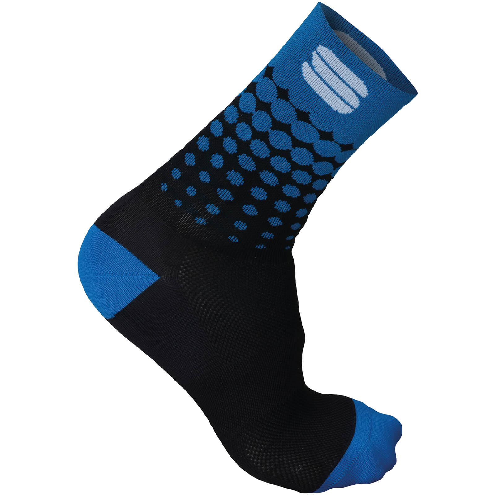 Sportful Flair 15 Socks - Black/Electric Blue