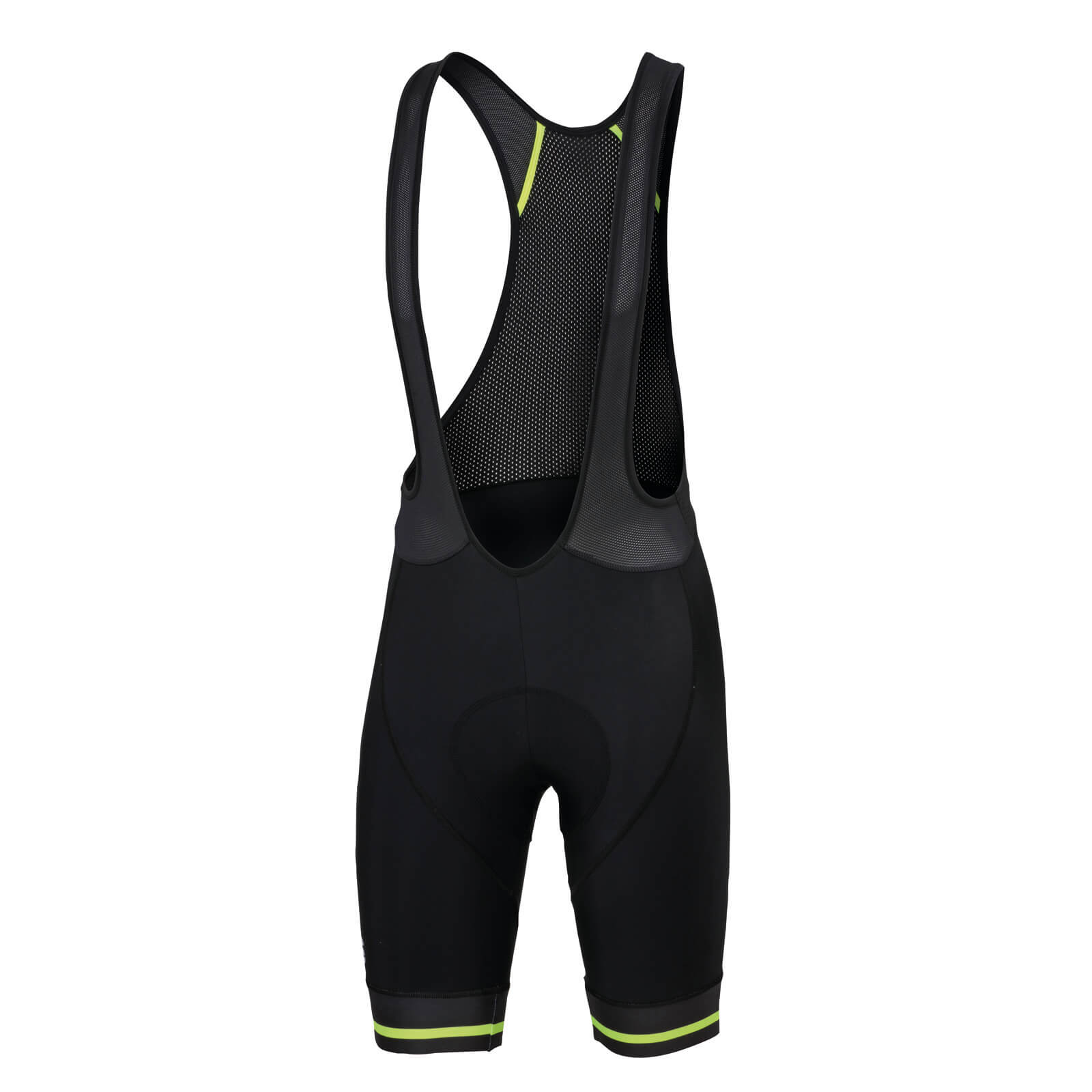 Sportful Classic Race Bib Shorts - Black/Yellow Fluo
