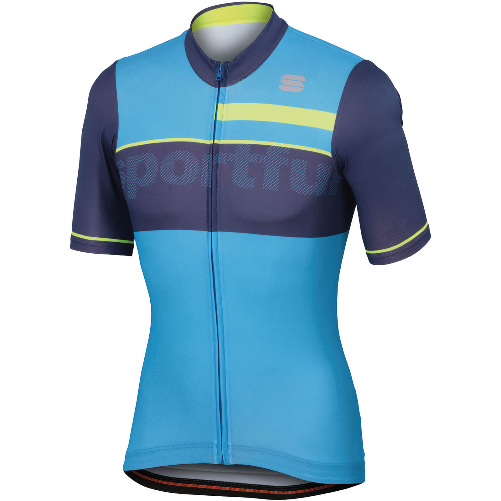 Sportful Squadra Corse Jersey - Electric Blue/Twilight Blue/Yellow Fluo