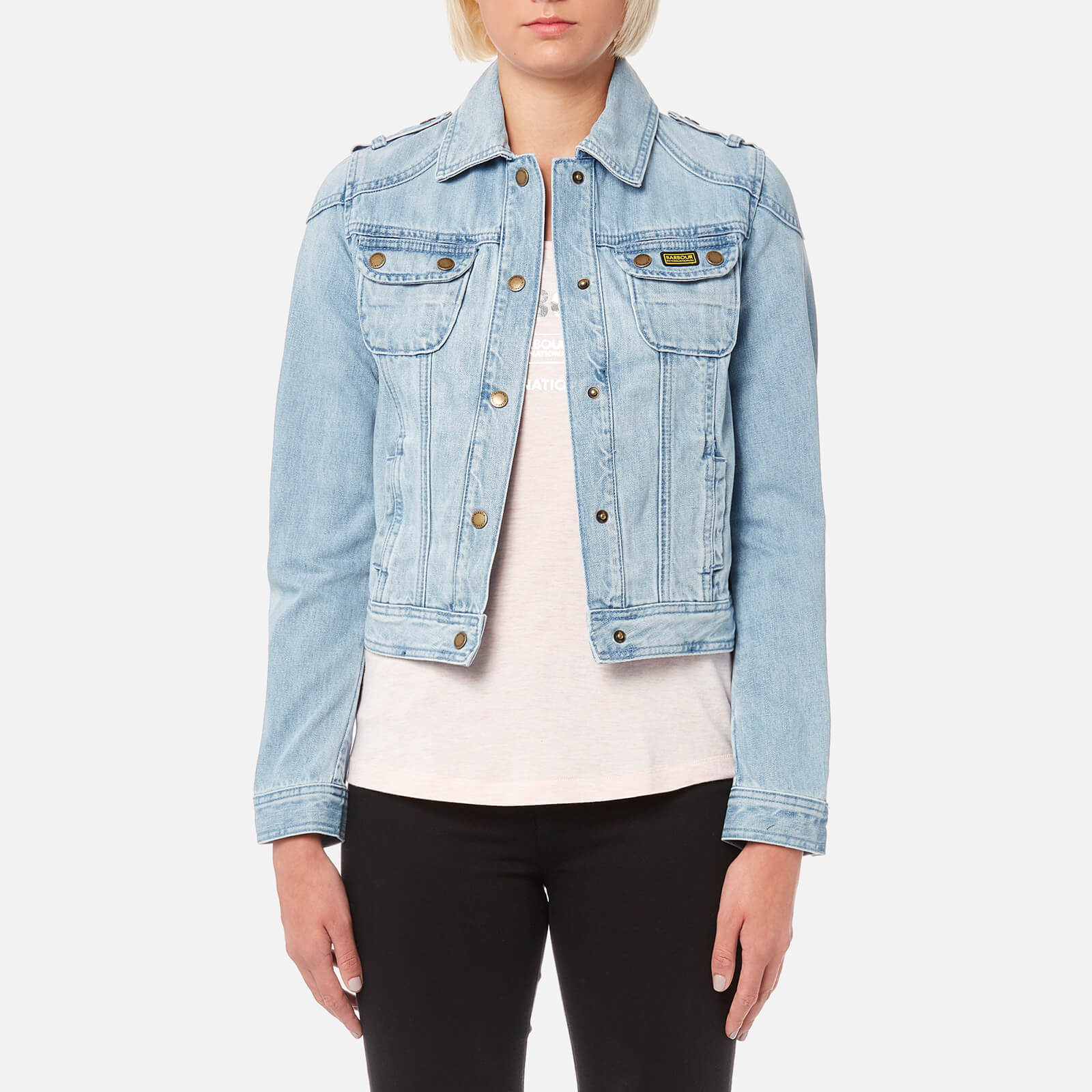 2505ad33d6 Barbour International Women s Durness Casual Denim Jacket - Bleached - Free  UK Delivery over £50