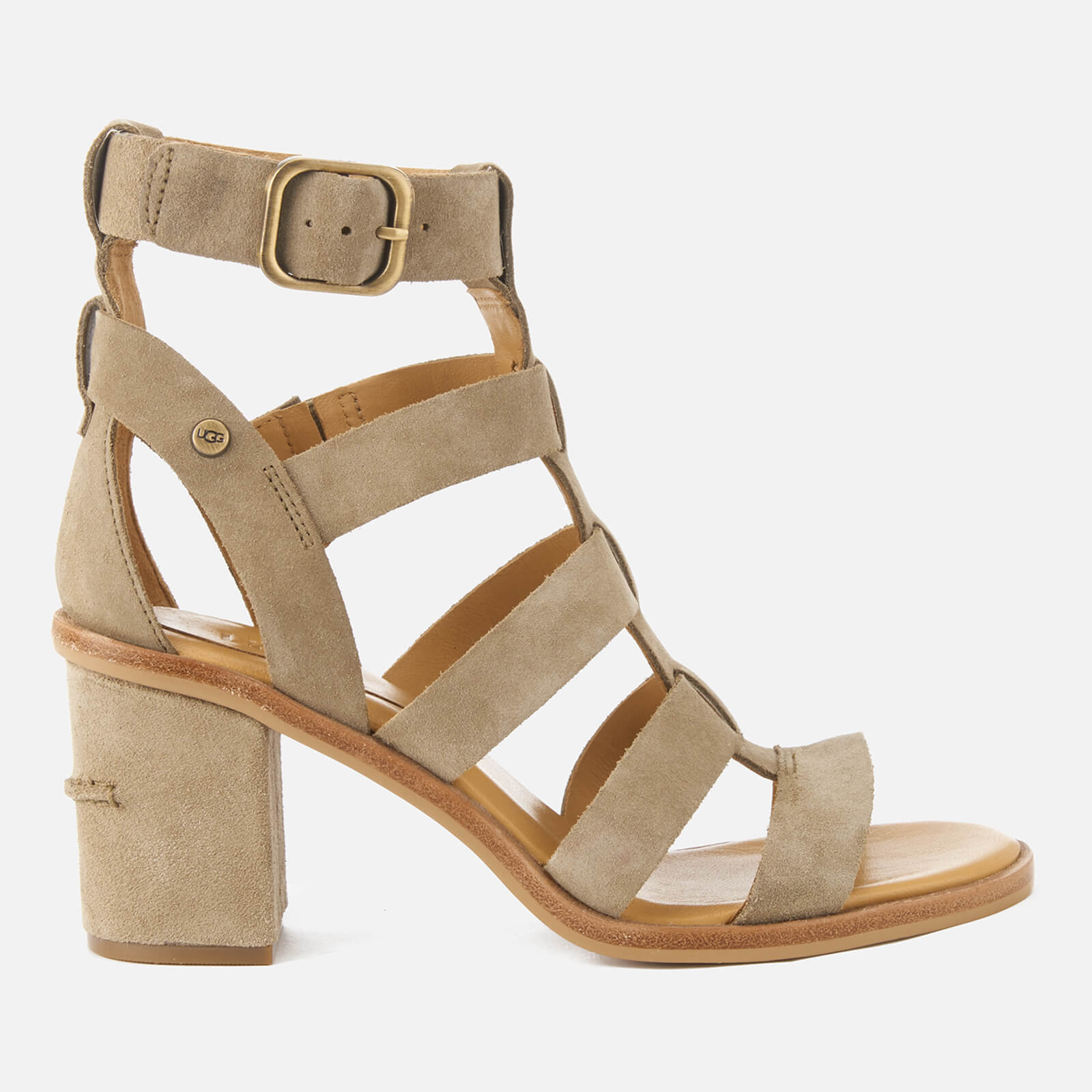 da78f31c9f3 UGG Women s Macayla Gladiator Heeled Sandals - Antelope Womens Footwear