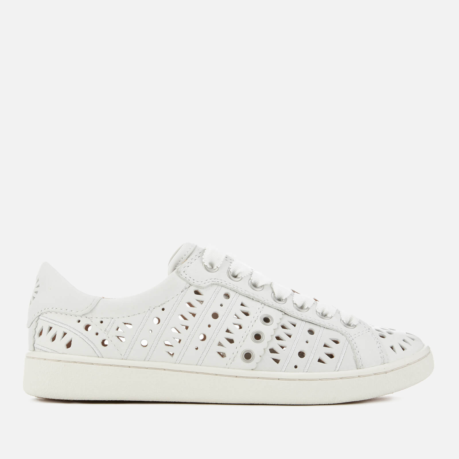 c5b48a1b081 UGG Women's Milo Perf Leather Cupsole Trainers - White