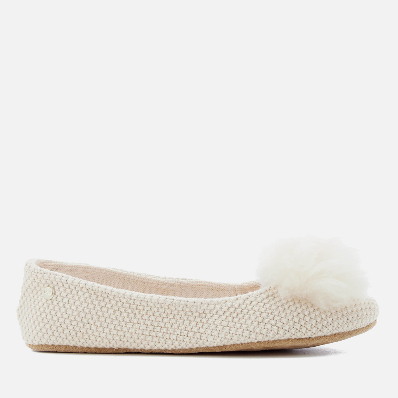 6fc4a8542e2 UGG Women s Andi Cotton Knitted Slippers - Cream Clothing