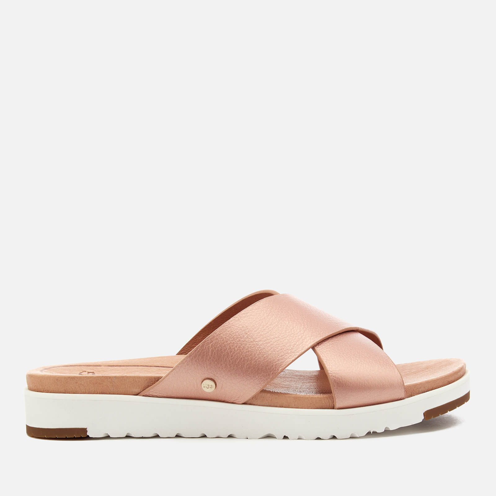 93976bd28a7 UGG Women's Kari Metallic Cross Strap Slide Sandals - Rose Gold