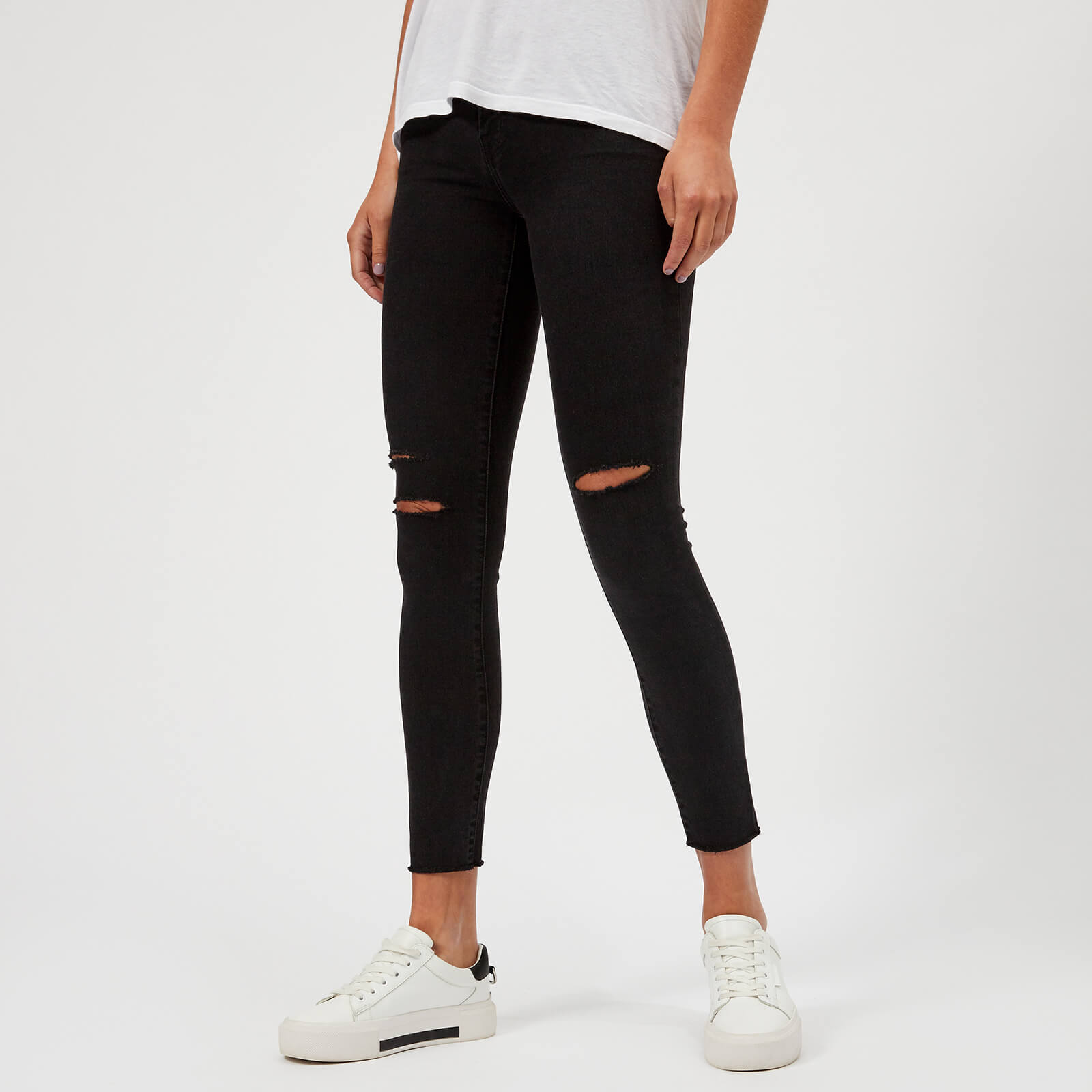 cc0db5c3a56 J Brand Women s 8227 Mid Rise Cropped Skinny Jeans - Black Mercy - Free UK  Delivery over £50