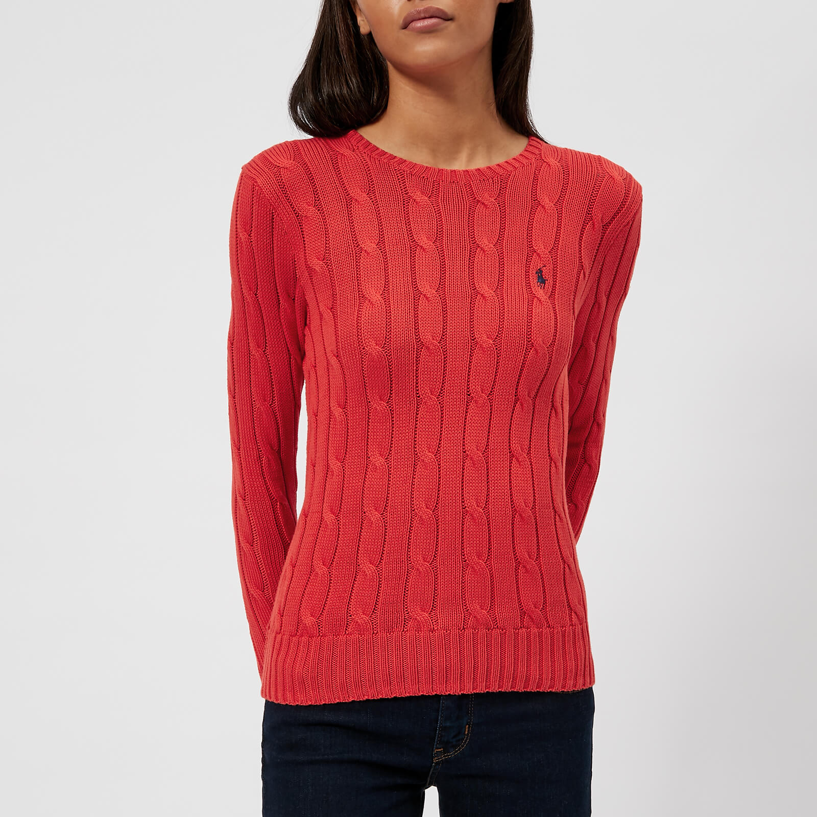 95749443f738 Polo Ralph Lauren Women s Julianna Crew Neck Jumper - Red - Free UK  Delivery over £50
