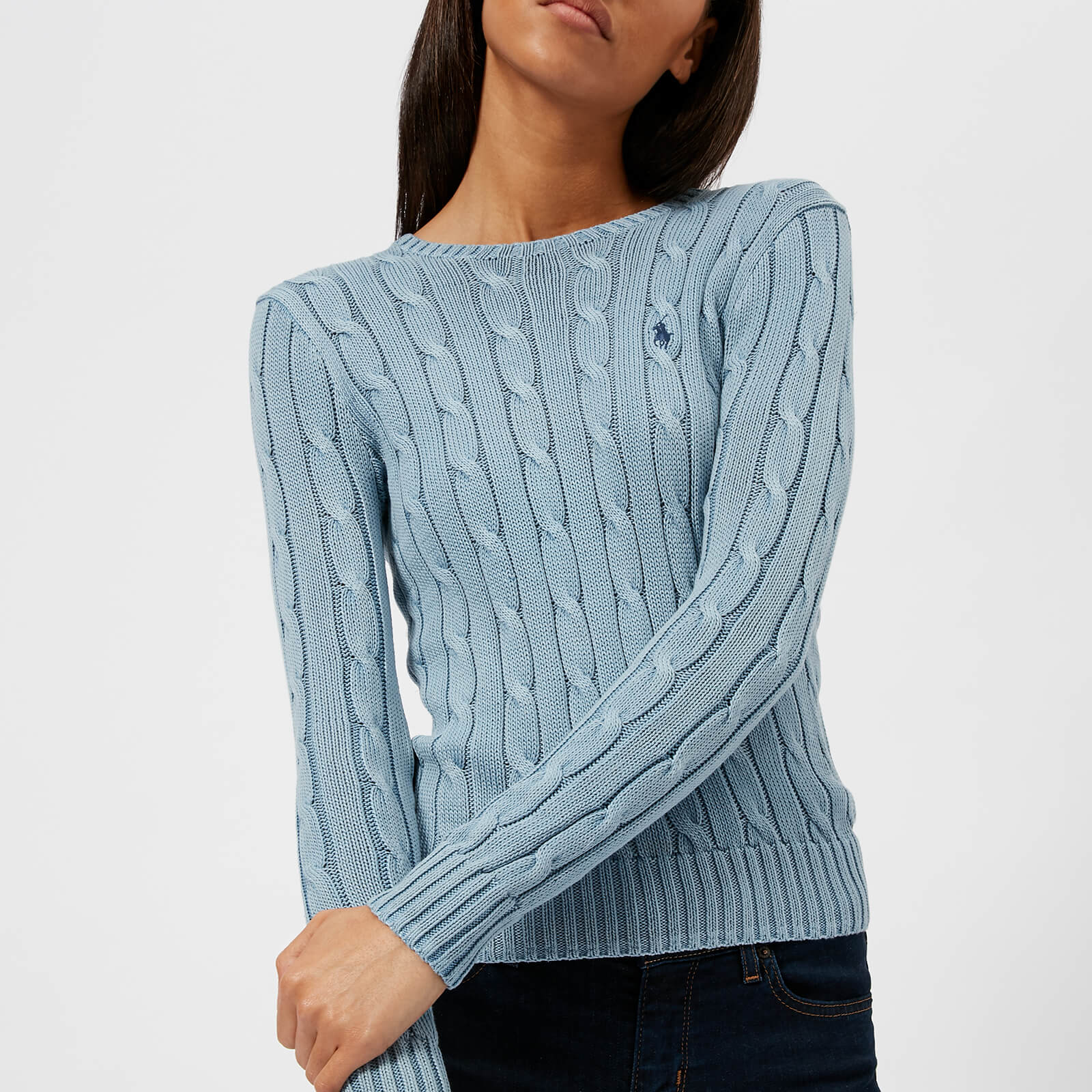 c38f599a246e60 Polo Ralph Lauren Women's Julianna Crew Neck Jumper - Chambray Blue - Free  UK Delivery over £50
