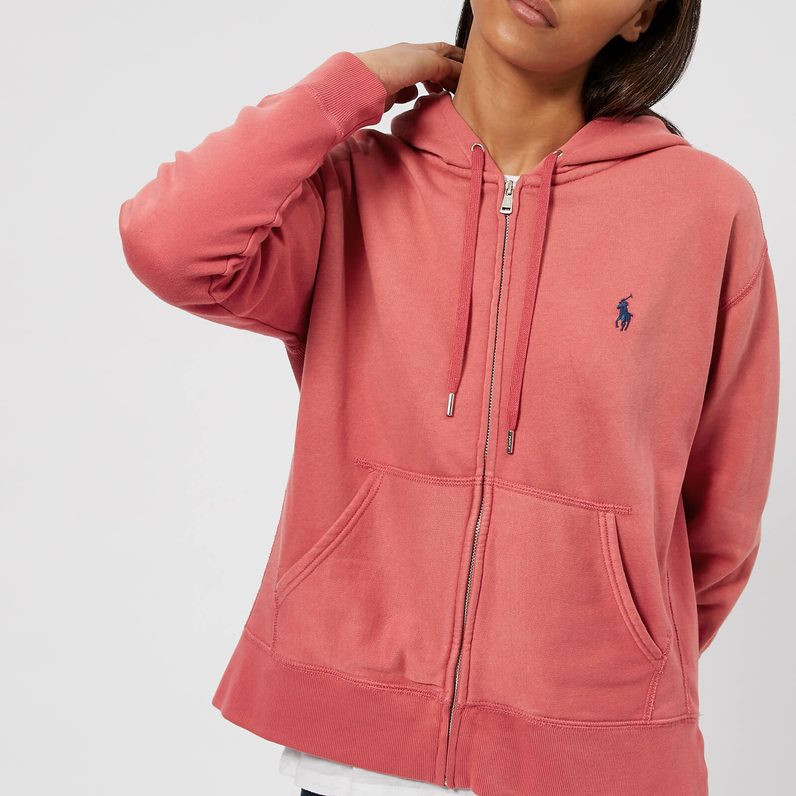 e22bd0b3a87ee Polo Ralph Lauren Women s Logo Hooded Sweatshirt - Sun Red - Free UK  Delivery over £50