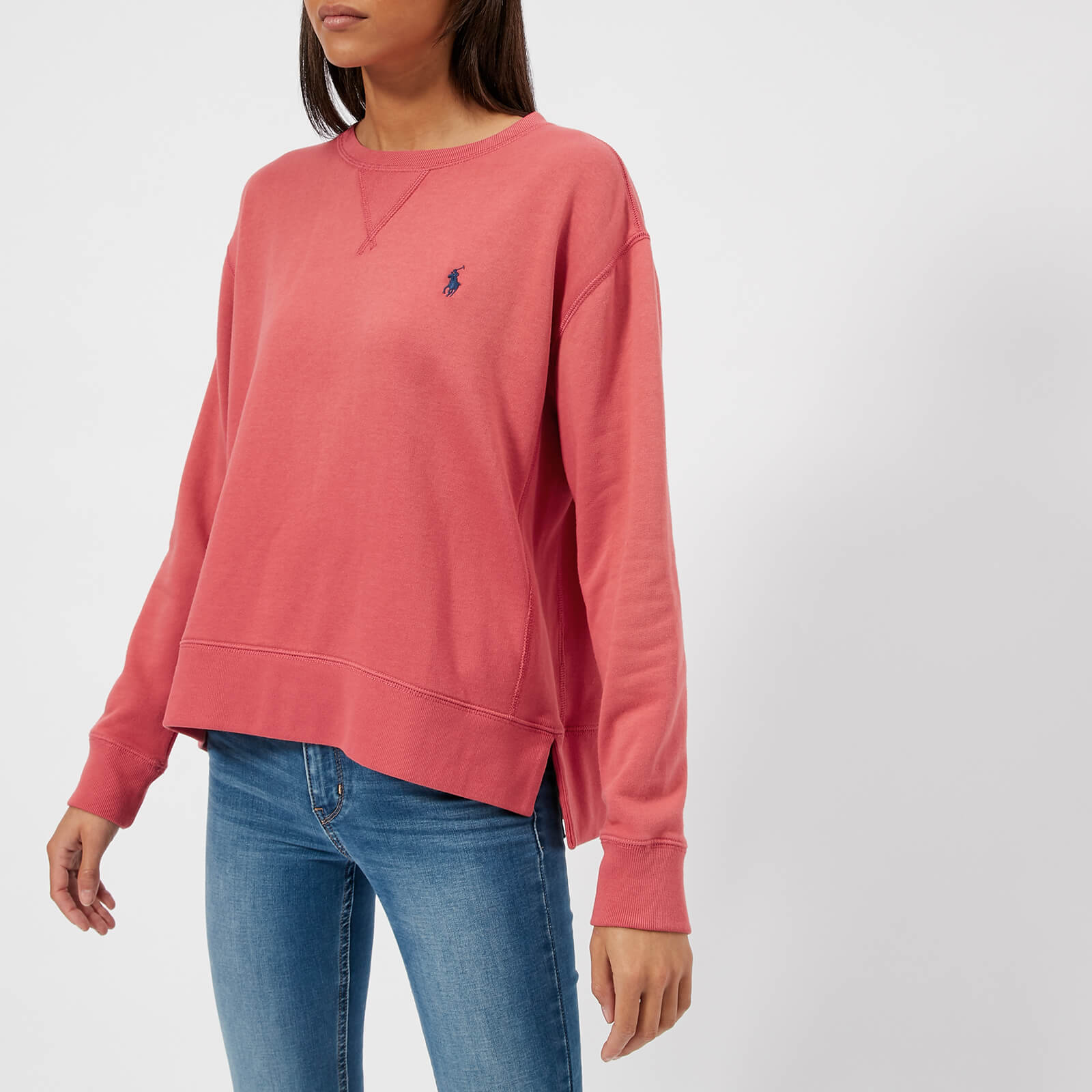6647b88c2ff9a Polo Ralph Lauren Women s Logo Sweatshirt - Sun Red - Free UK Delivery over  £50