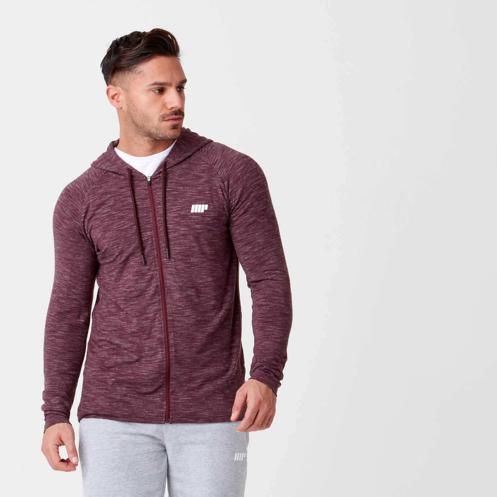 Myprotein Performance Zip Top - Burgundy Marl - XS