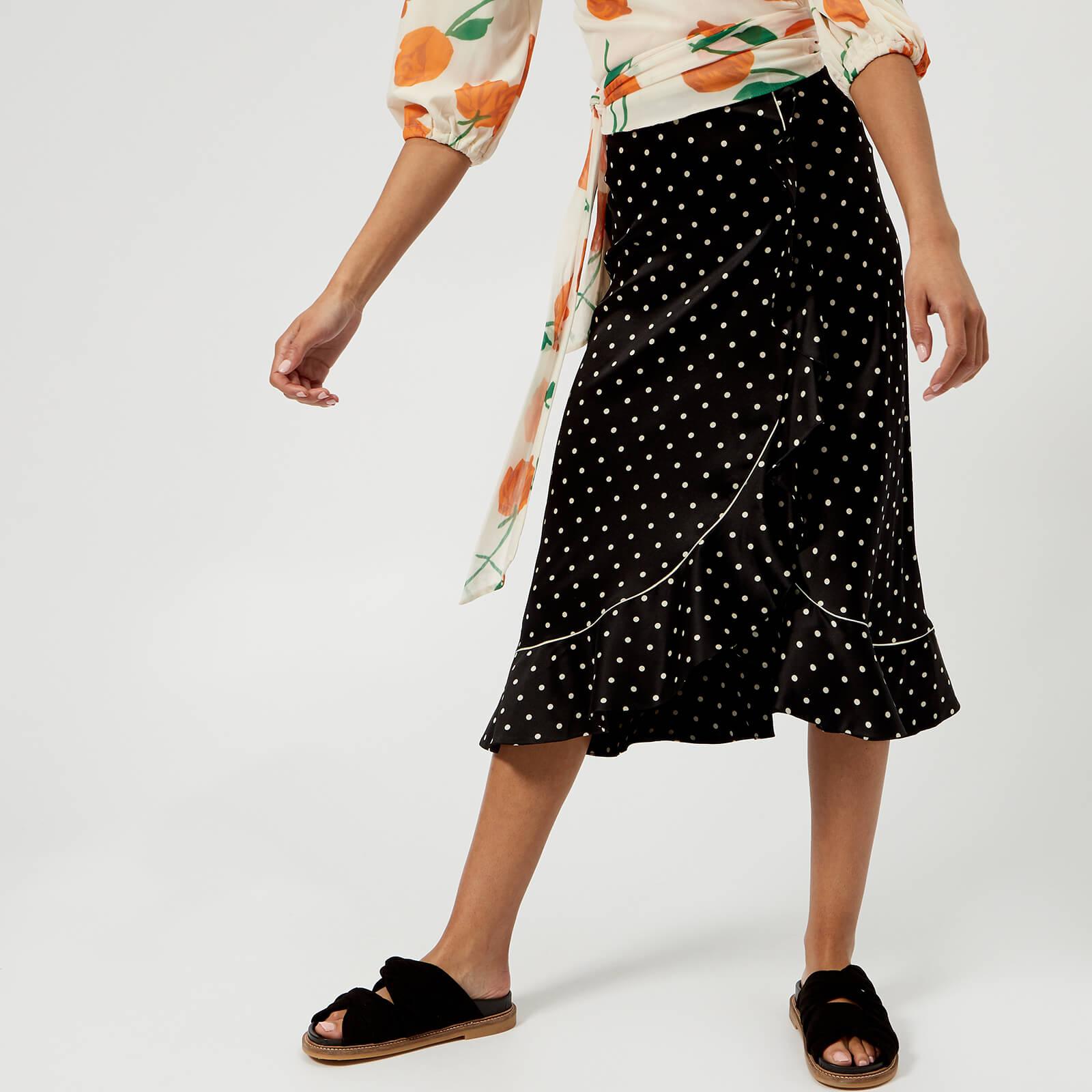 605829aa163d Ganni Women's Dufort Silk Skirt - Black - Free UK Delivery over £50