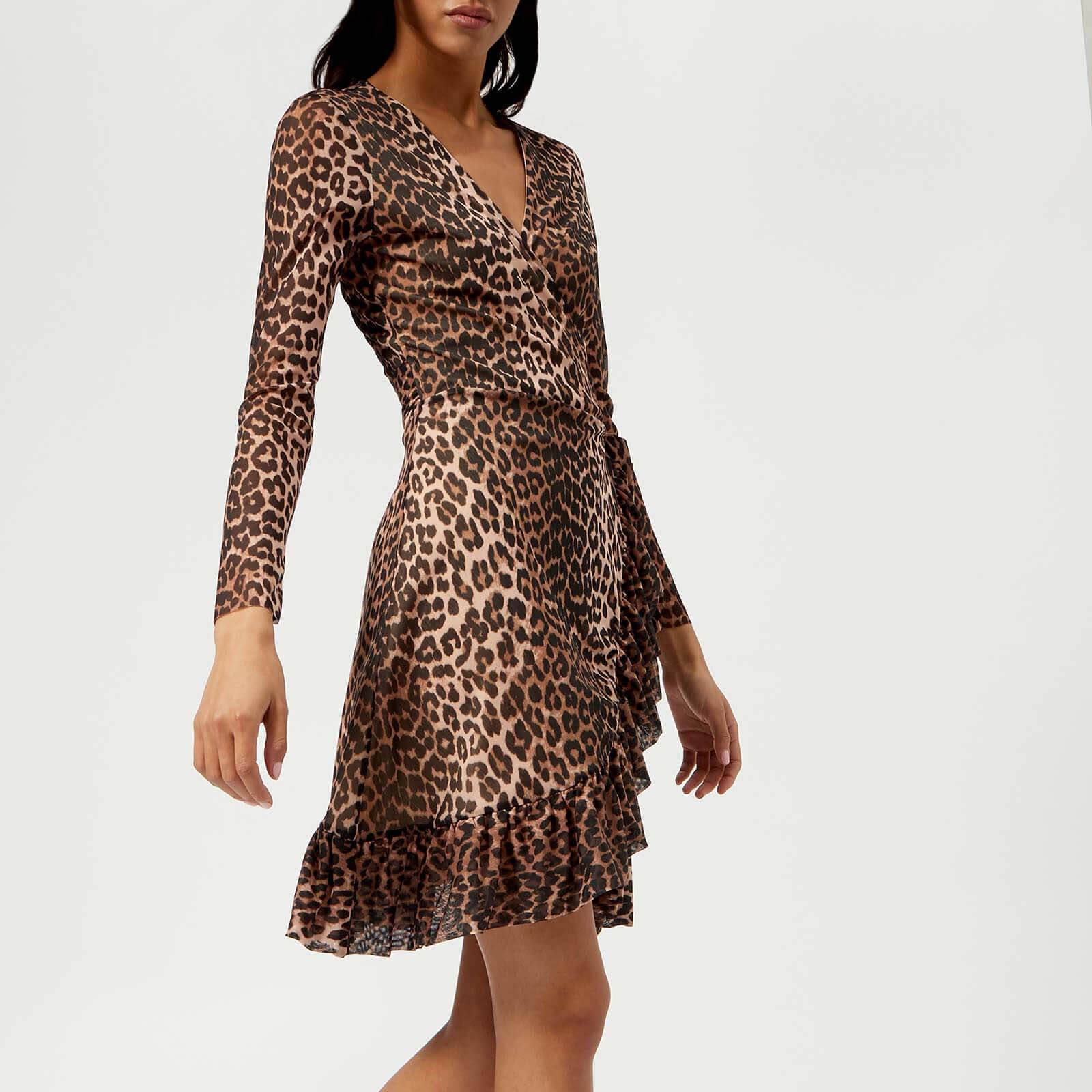 3fe2980e Ganni Women's Tilden Mesh Dress - Leopard - Free UK Delivery over £50
