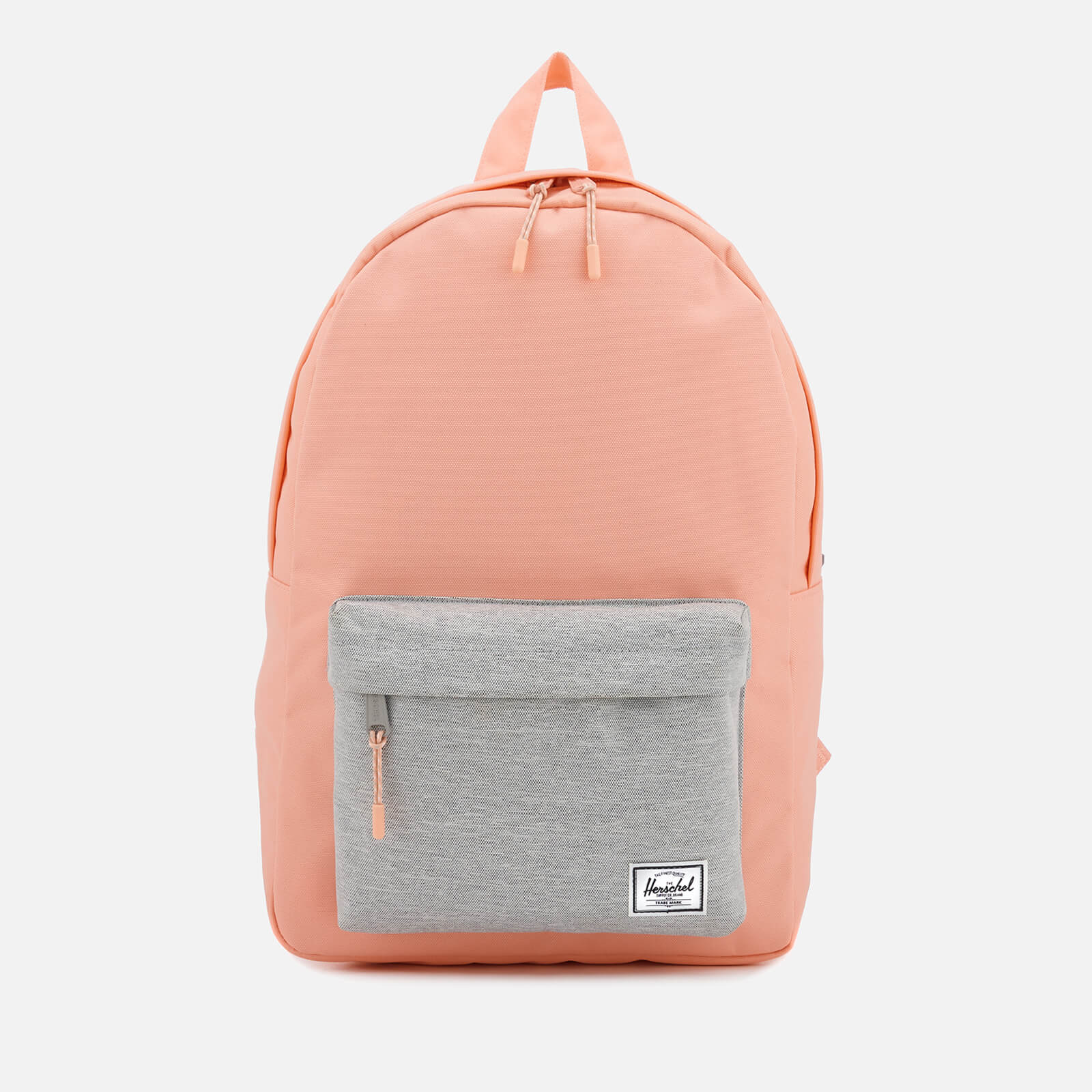 de50d219150 Herschel Supply Co. Women's Classic Mid-Volume Backpack - Peach/Light Grey  Crosshatch Clothing | TheHut.com