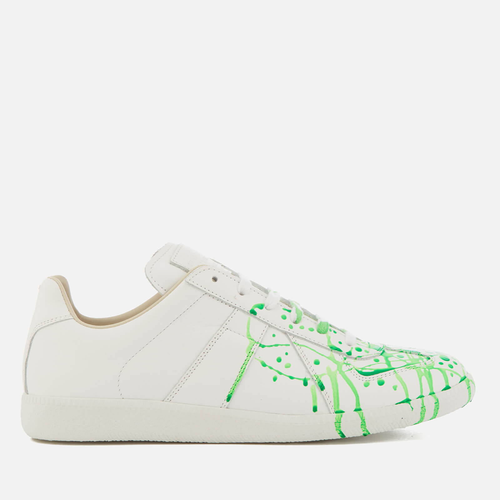 0a6c1acf Maison Margiela Men's Paint Splash Replica Sneakers - White/Green Fluo  Painter/White Sole - Free UK Delivery over £50