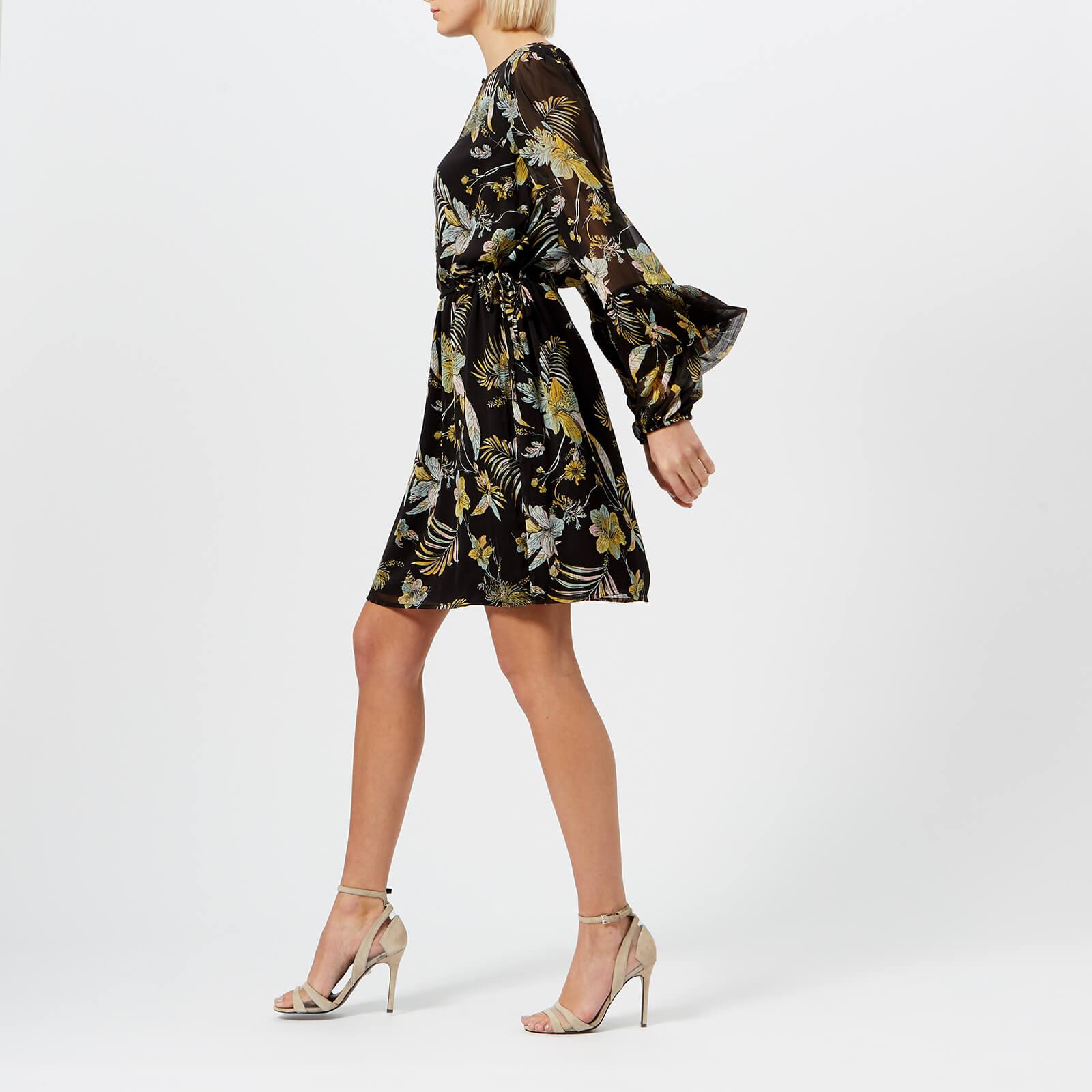 08023823 Gestuz Women's Maui Dress - Black Palm - Free UK Delivery over £50