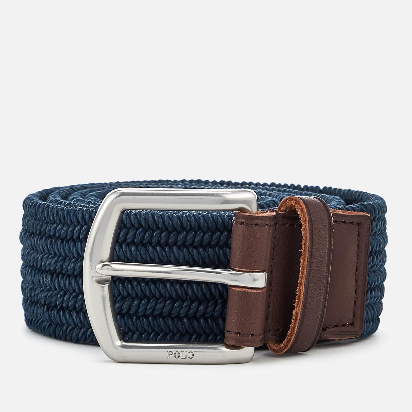 b7a57a1840 Polo Ralph Lauren Men's Braided Fabric Stretch Belt - Navy