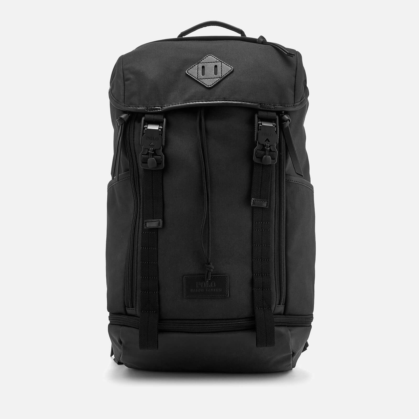 776283a7ef Polo Ralph Lauren Men s Medium Canvas Backpack - Black - Free UK Delivery  over £50