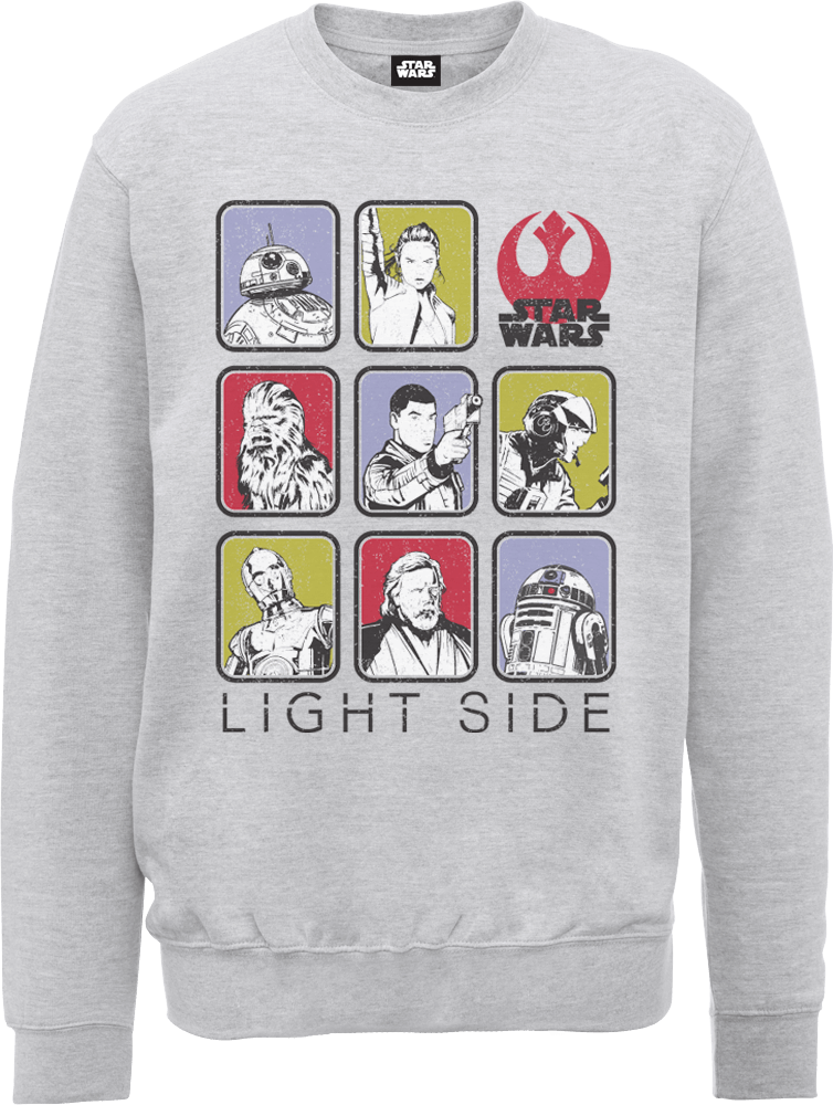 Star Wars The Last Jedi Light Side Grey Sweatshirt