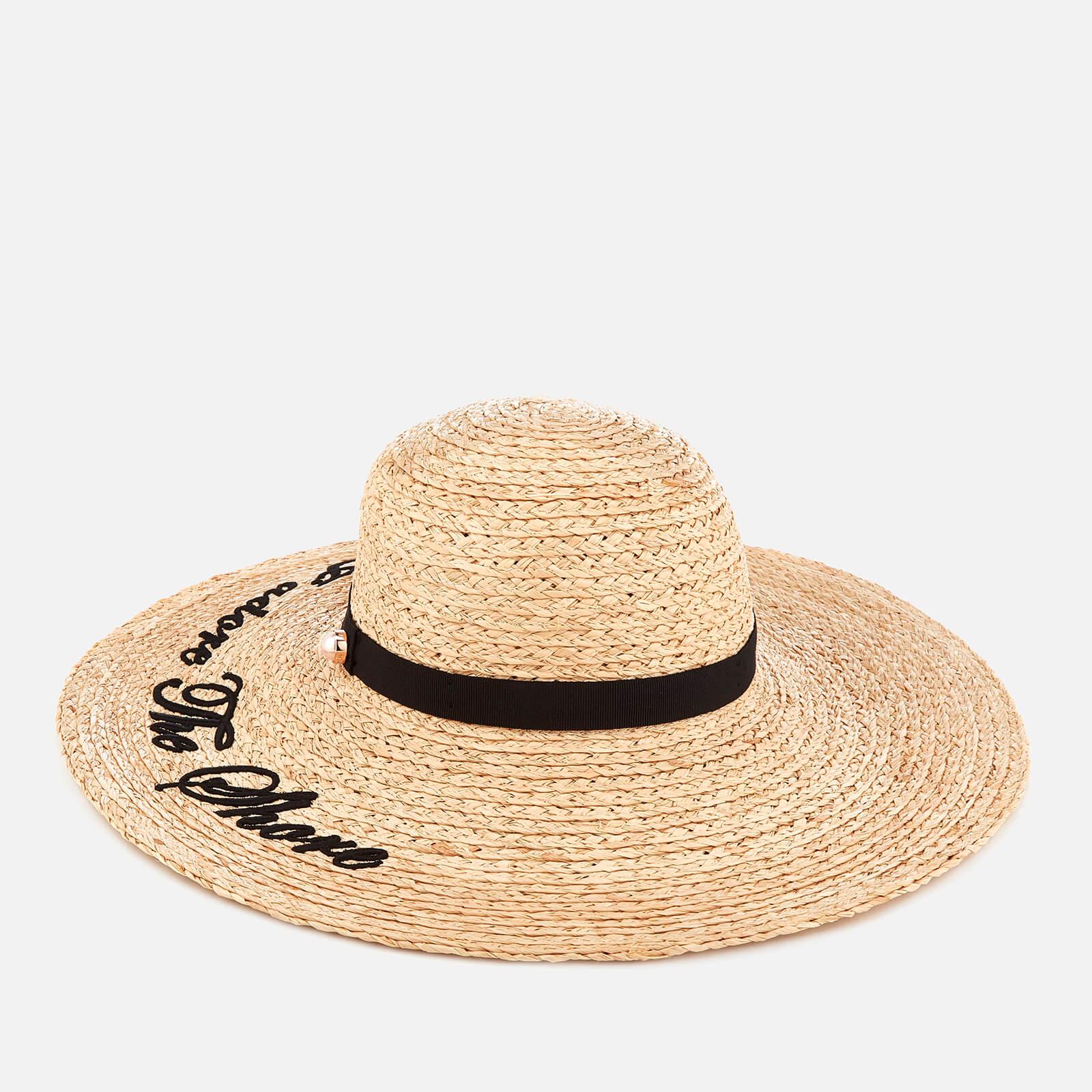 86e861031 Ted Baker Women's Albizia Script Embroidered Floppy Hat - Straw